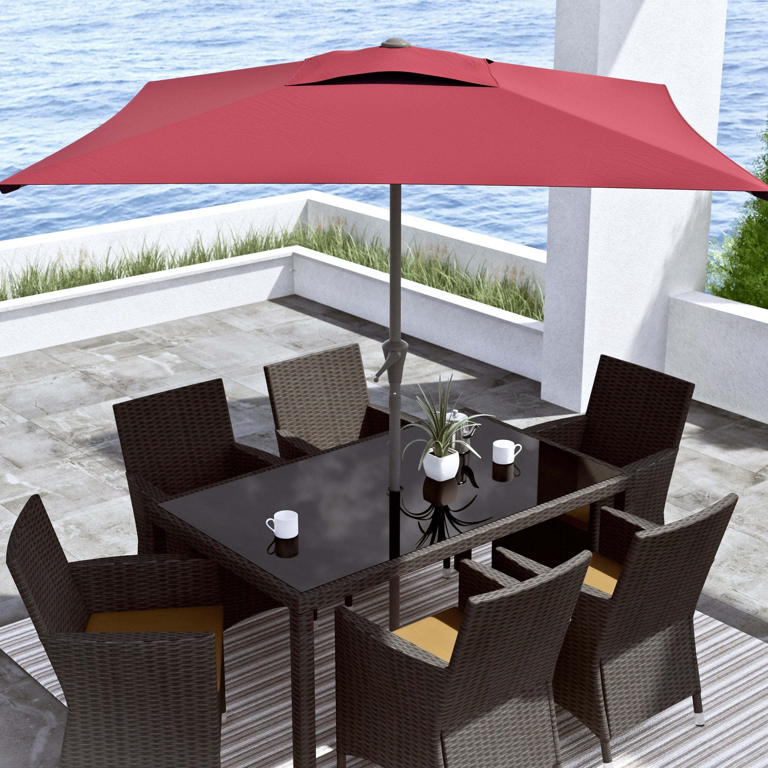 CorLiving Square Patio Umbrella Free Shipping Today Overstock