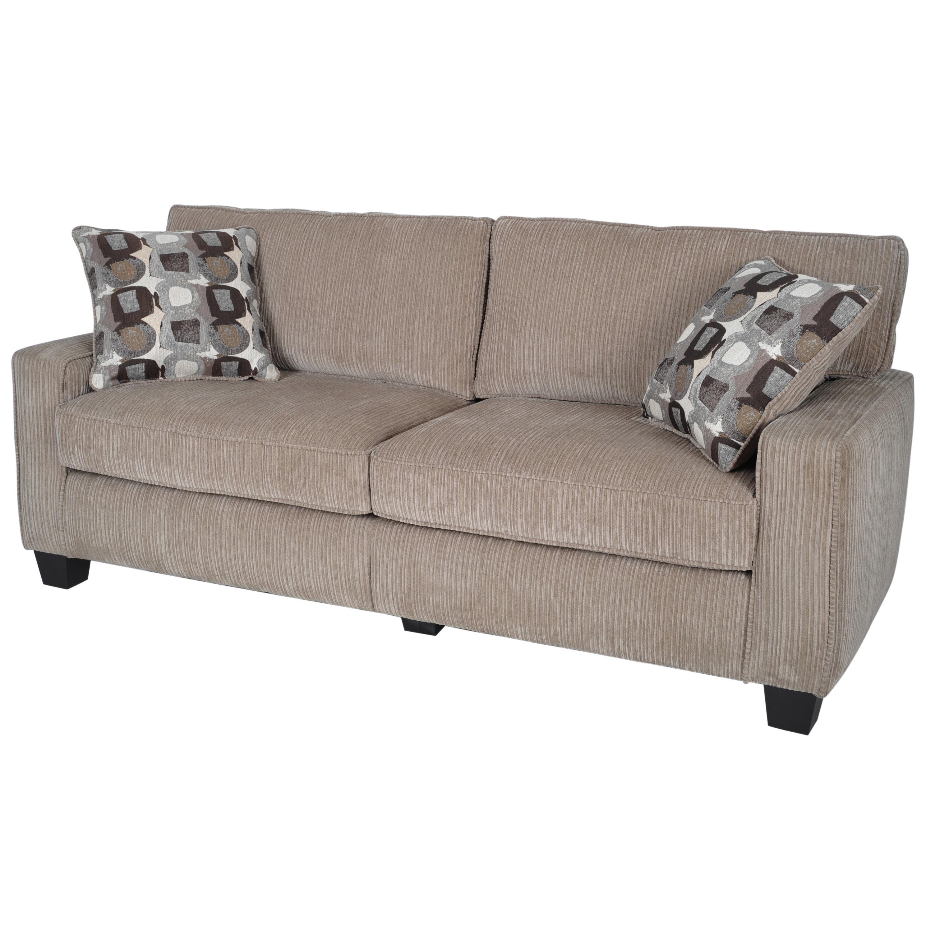 Shop Serta RTA Santa Cruz Collection 78-inch Platinum Fabric Sofa ...