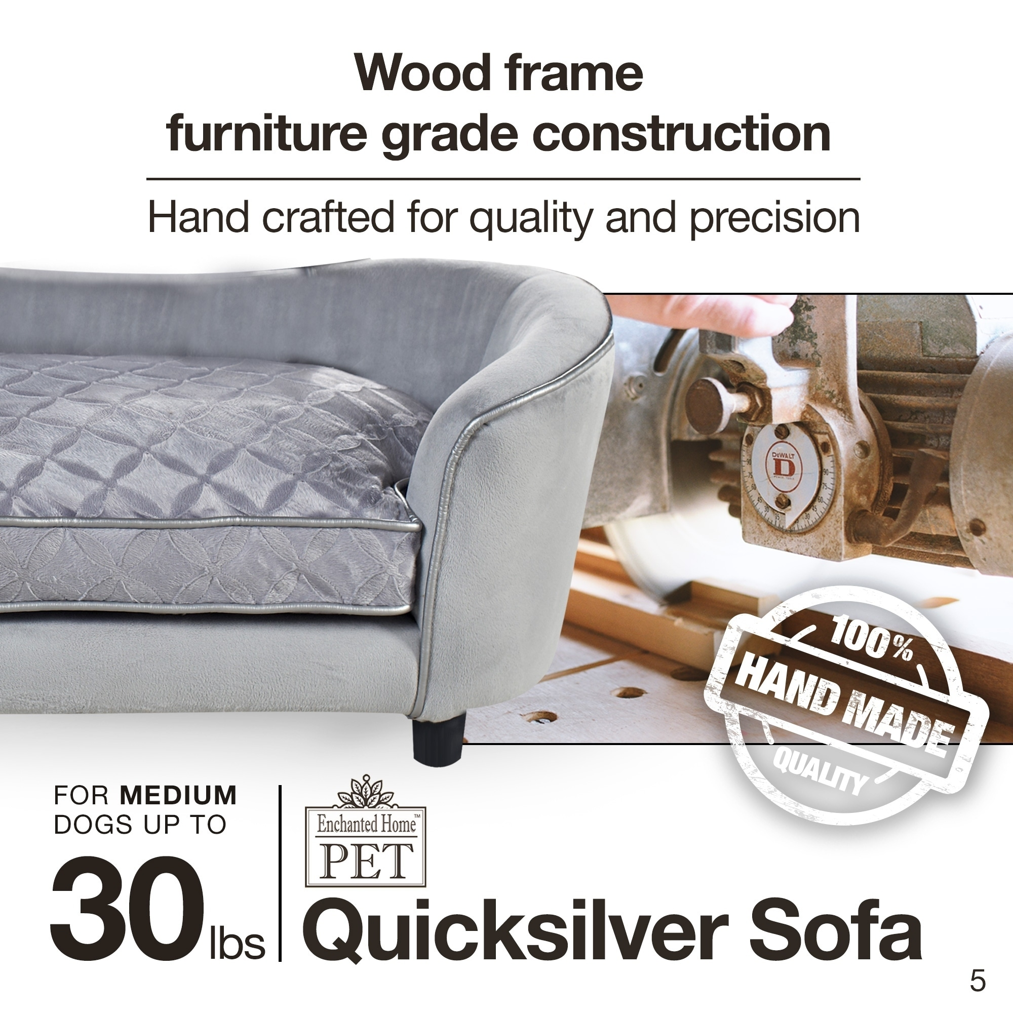 Enchanted Home Pet Quicksilver Pet Bed - Free Shipping Today -  Overstock.com - 16278328