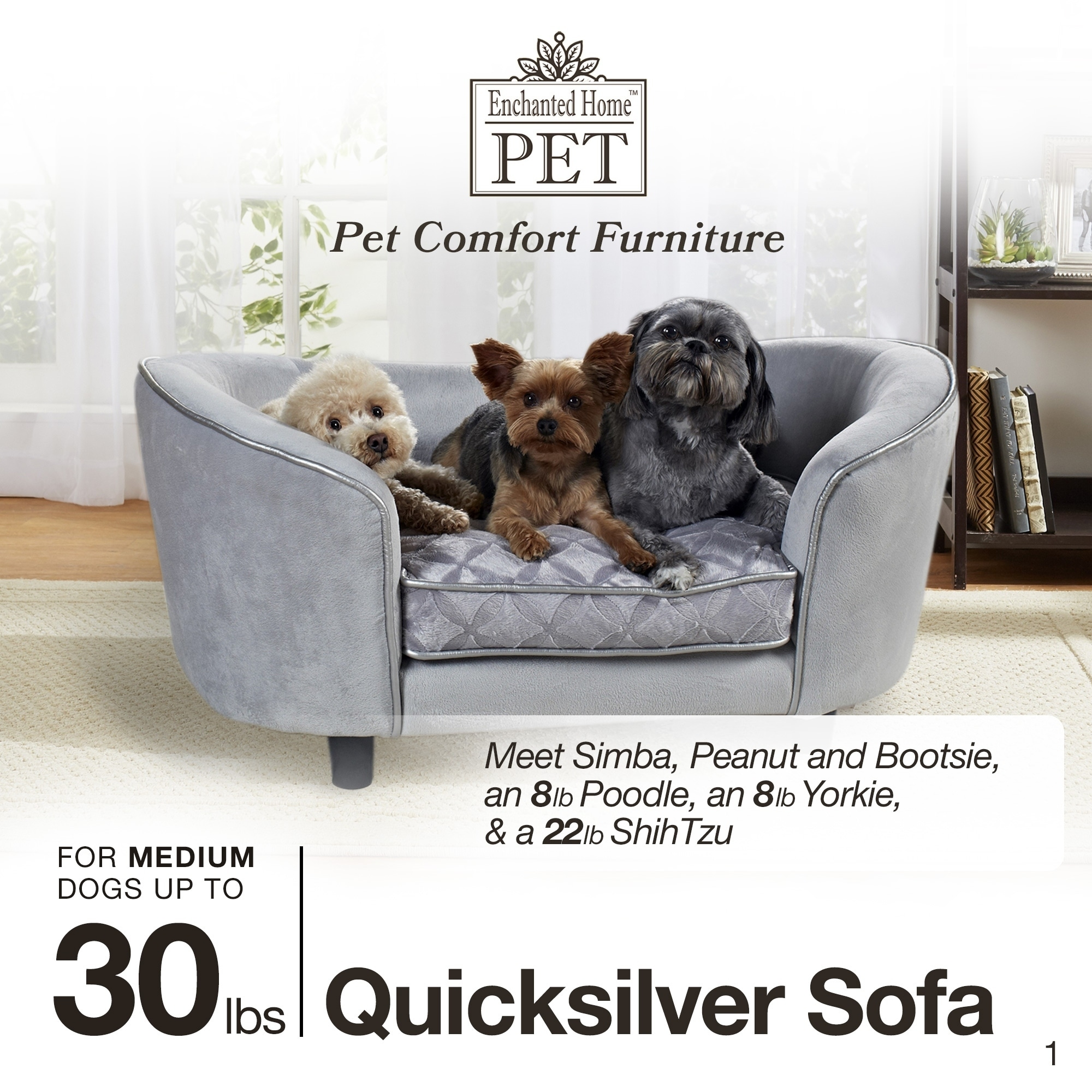 Shop Enchanted Home Pet Quicksilver Pet Bed   Free Shipping Today    Overstock.com   9088709