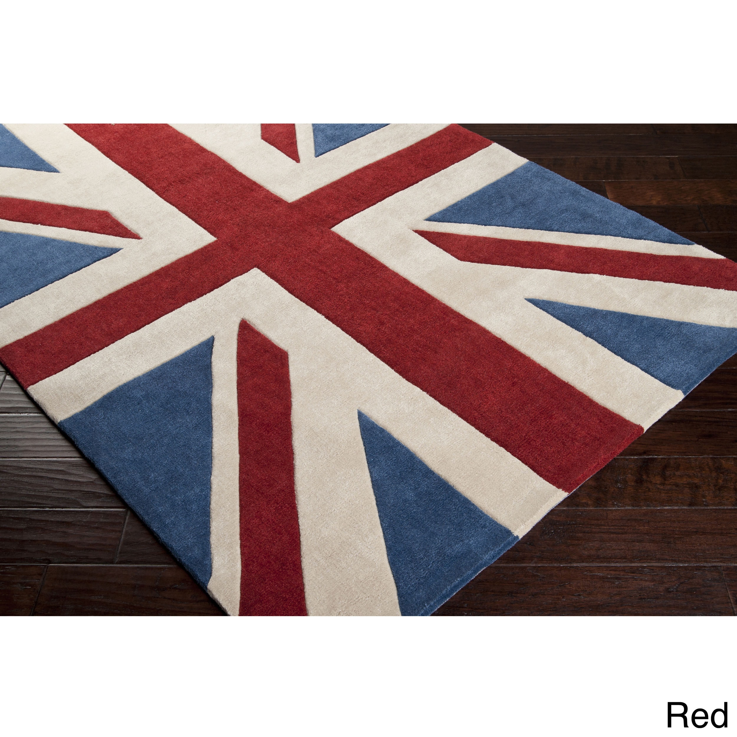 Hand Tufted Union Jack Novelty Contemporary Area Rug On Free Shipping Today Com 9089165