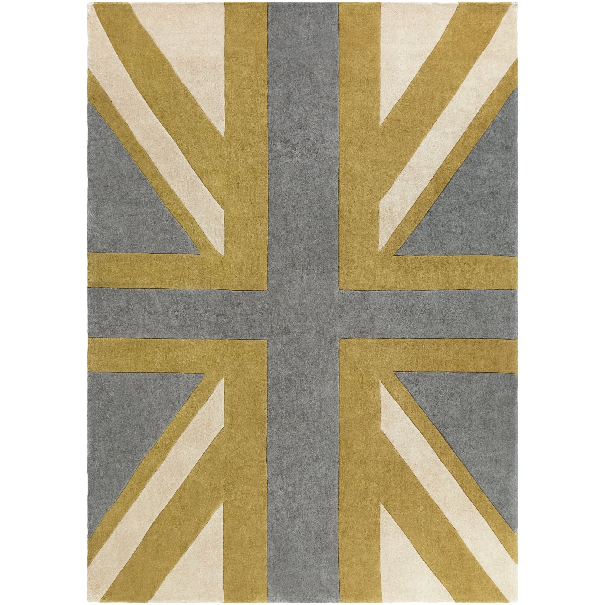 Shop Hand-tufted Union Jack Novelty Contemporary Area Rug - 8\' x 11 ...