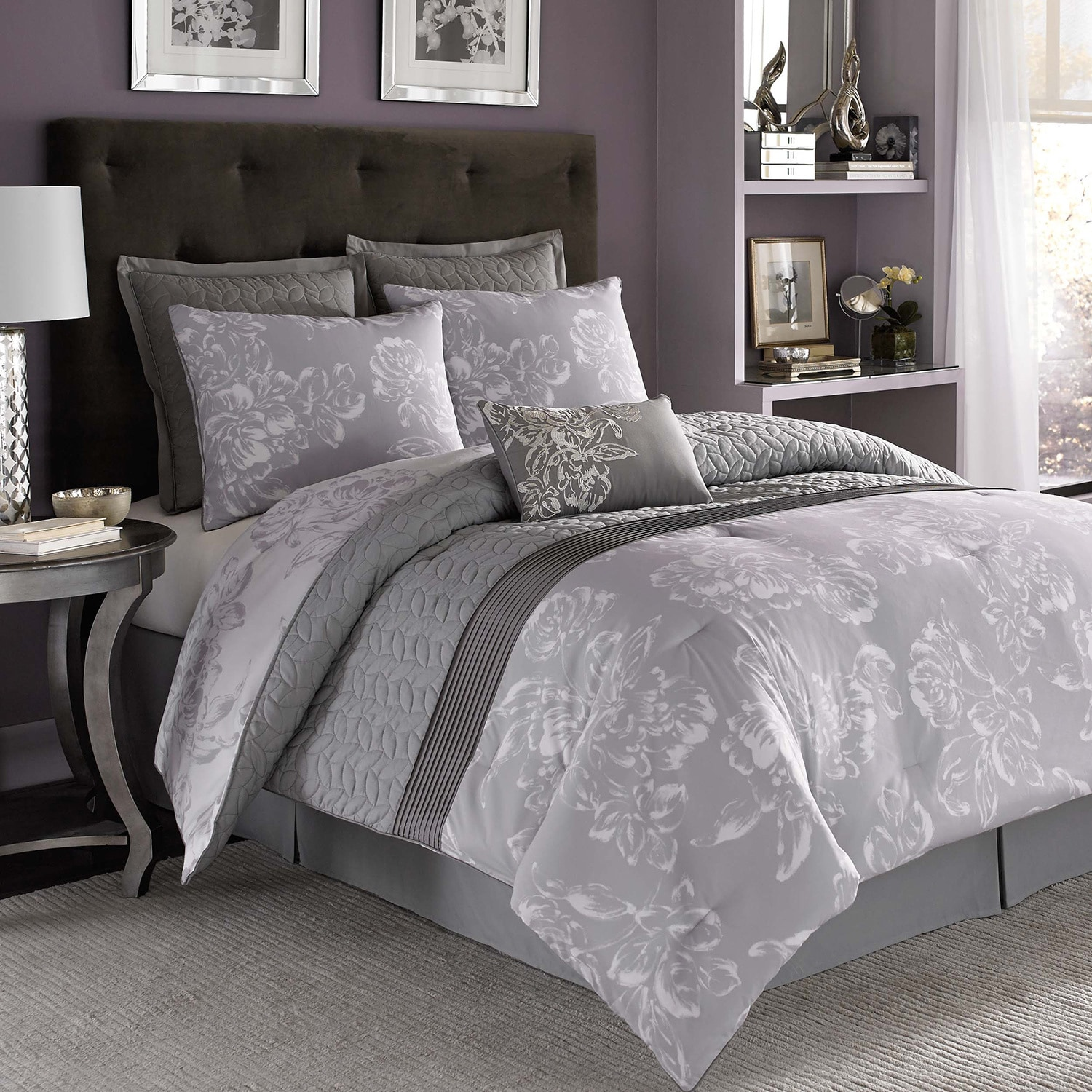 Nicole Miller Fl 7 Piece Comforter Set Free Shipping Today 9089541