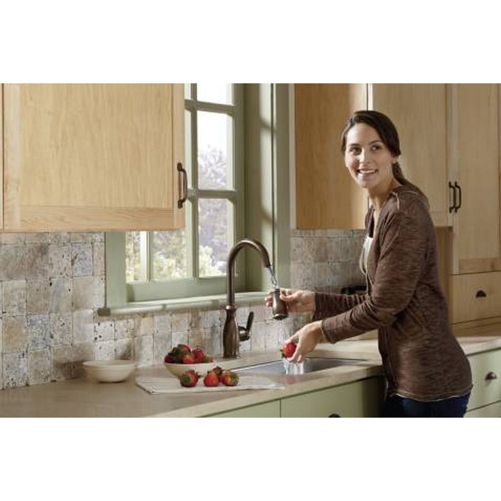 Shop Moen Brantford Oil-rubbed Bronze Kitchen Faucet - Free Shipping ...