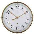 Uttermost Torriana Antiqued Goldtone and Ivory Wall Clock