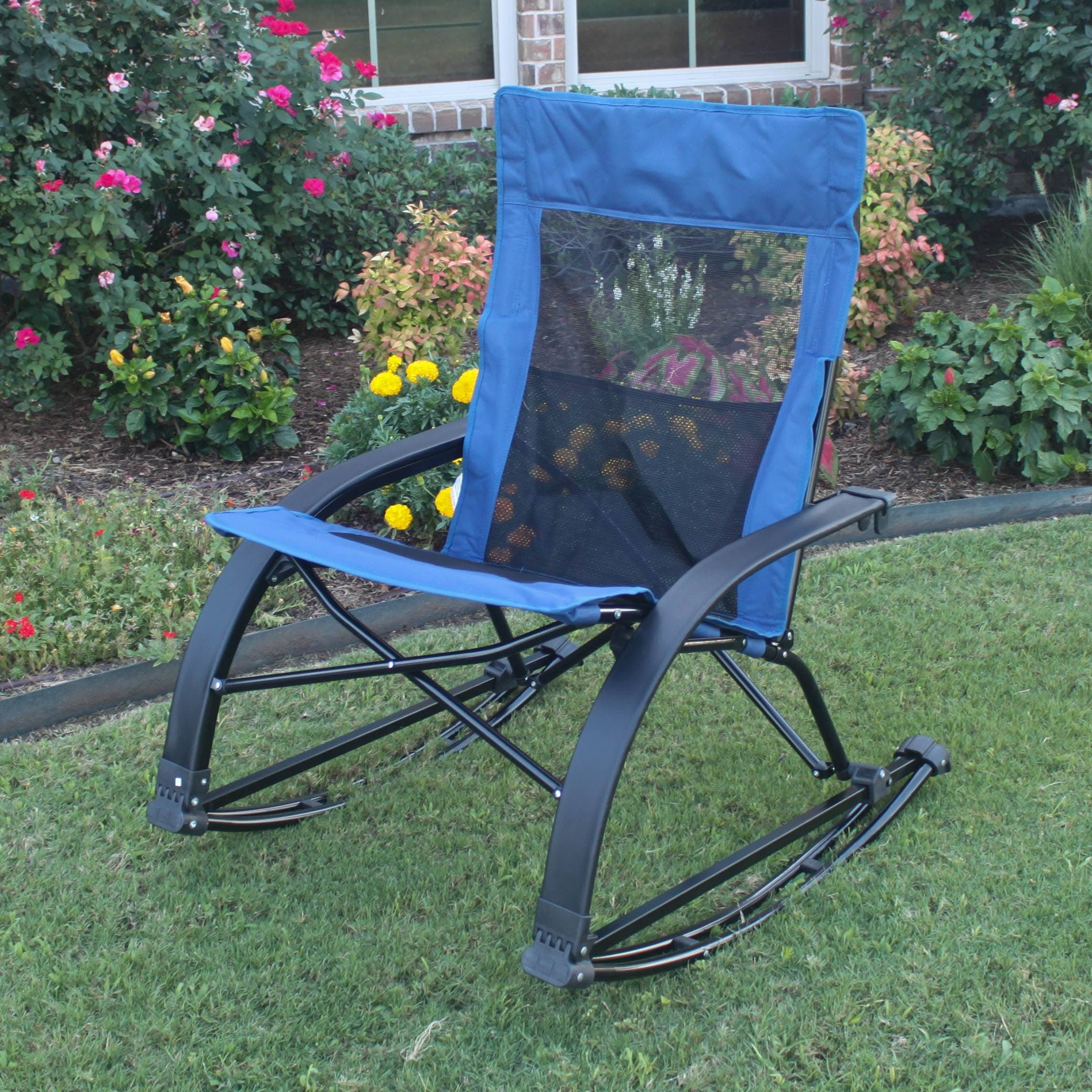 International Caravan Folding Indoor Outdoor Rocker with