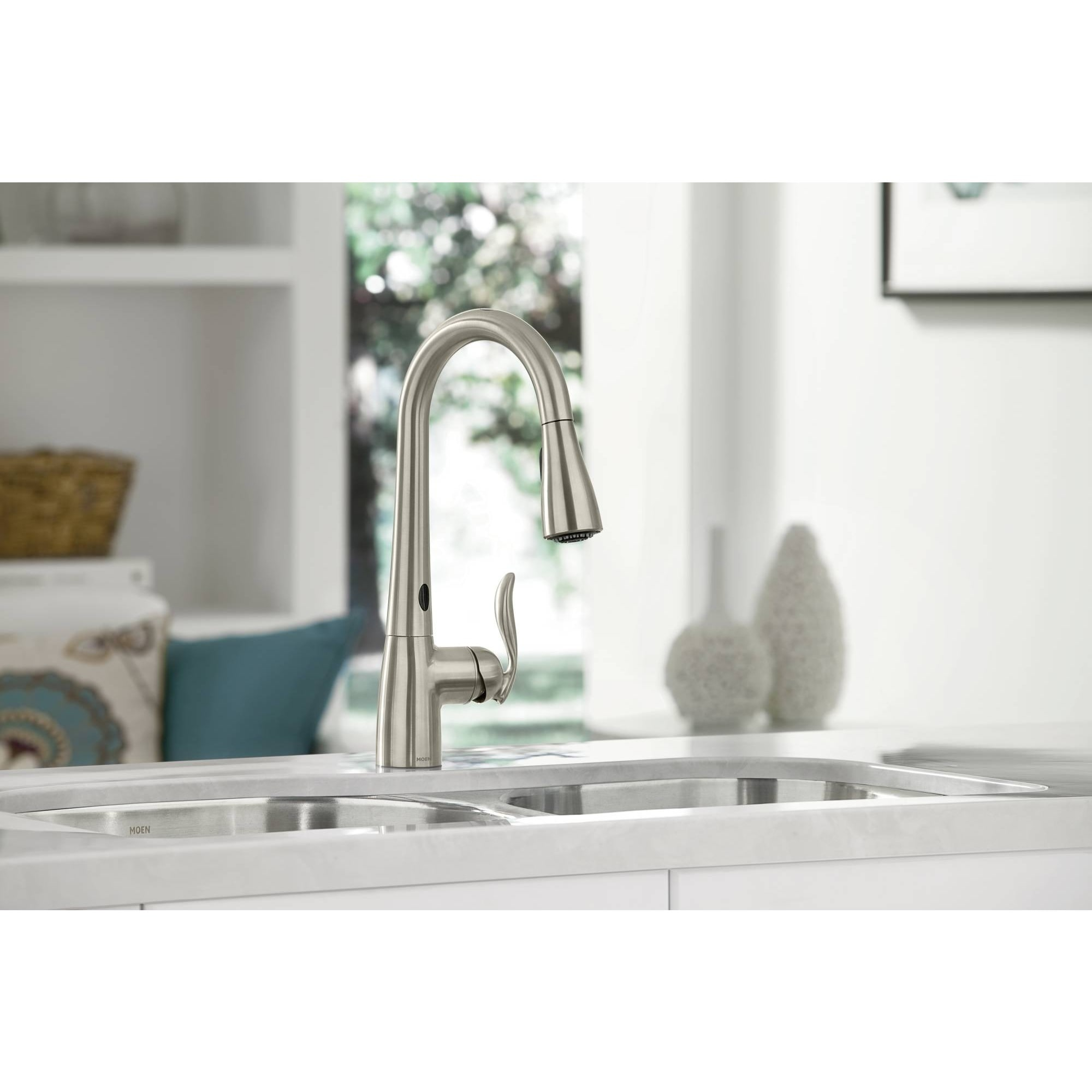 Moen Arbor MotionSense Kitchen Faucet - Free Shipping Today ...