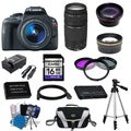 Canon EOS Rebel SL1 DSLR Camera Body with 18-55mm IS STM and 75-300mm III Lenses 16GB 15-piece Bundle