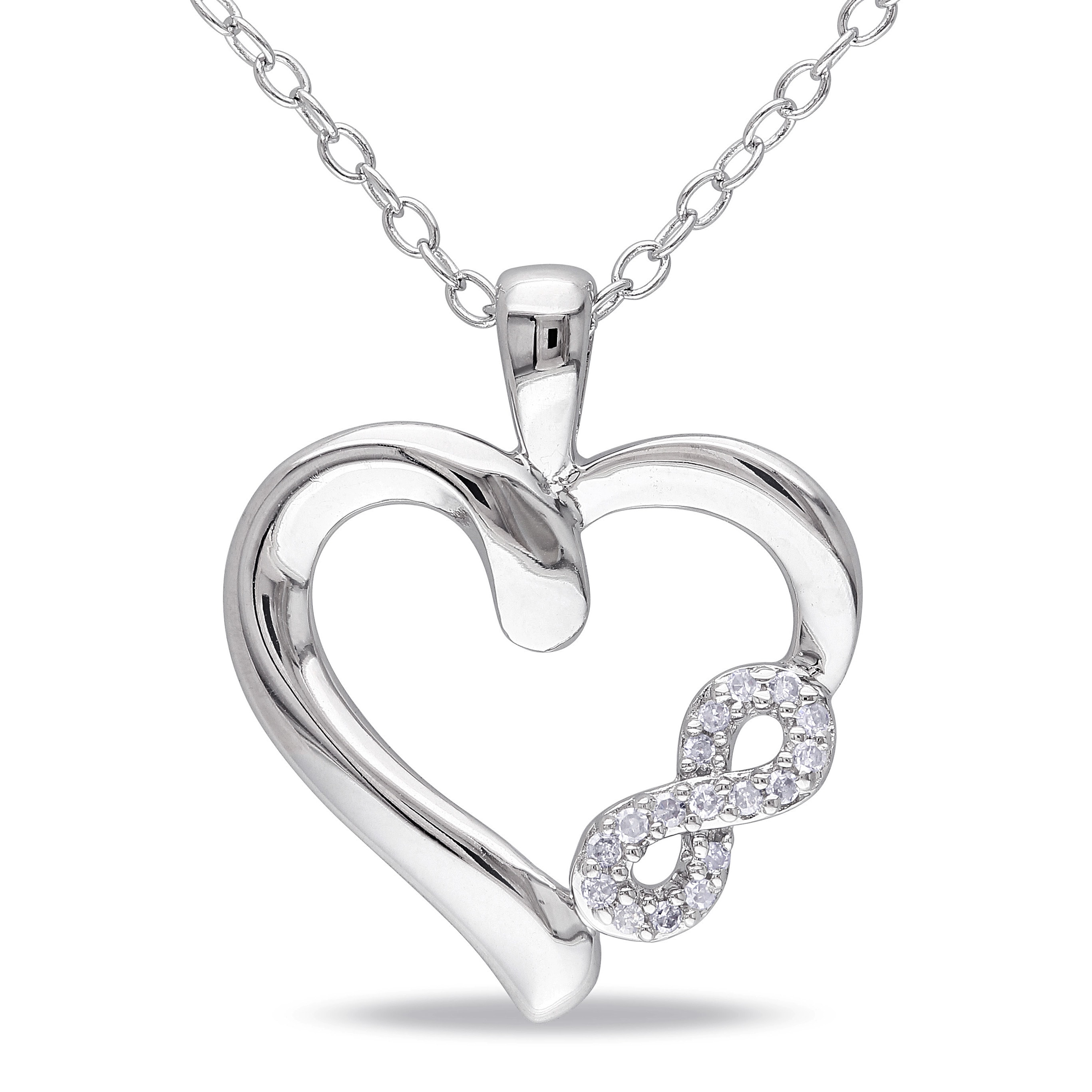 sterling qlt prod black cttw p hei necklace heart diamond symbol rhodium with infinity wid silver in diamore