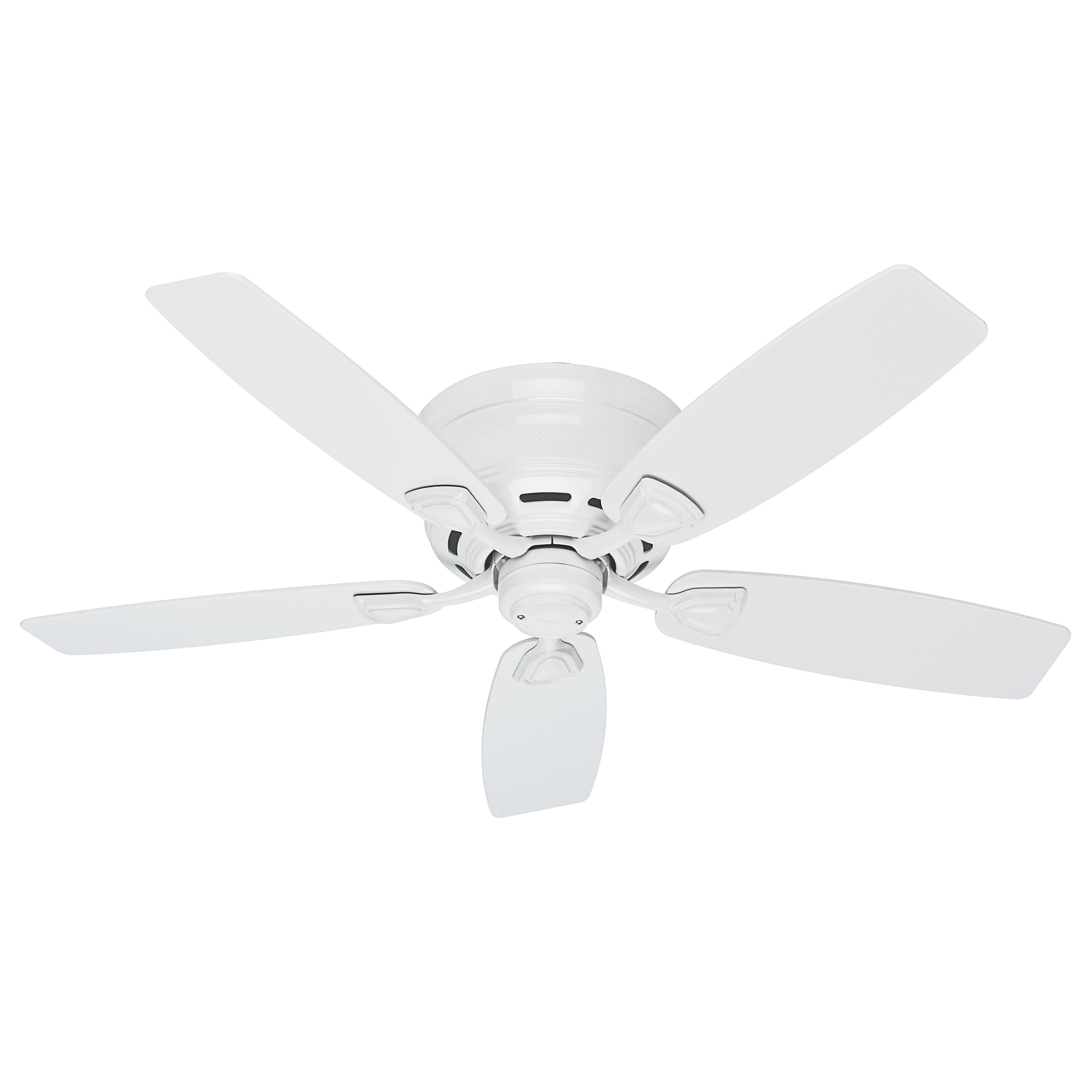 Hunter Sea Wind 48 inch ETL Damp Rated White Ceiling Fan Free