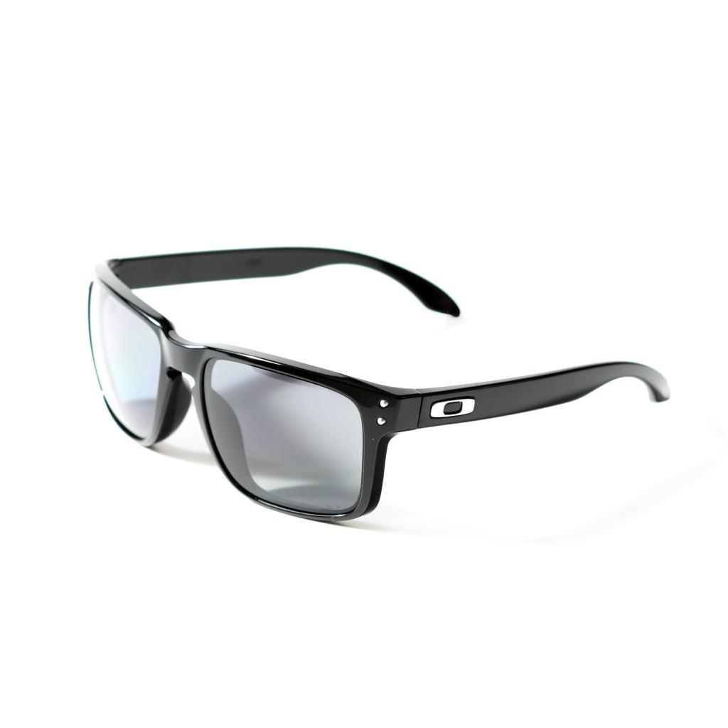 55a4c0f0e7 Shop Oakley Holbrook Polished Black with Grey Polarized Lenses - Free  Shipping Today - Overstock - 9103007