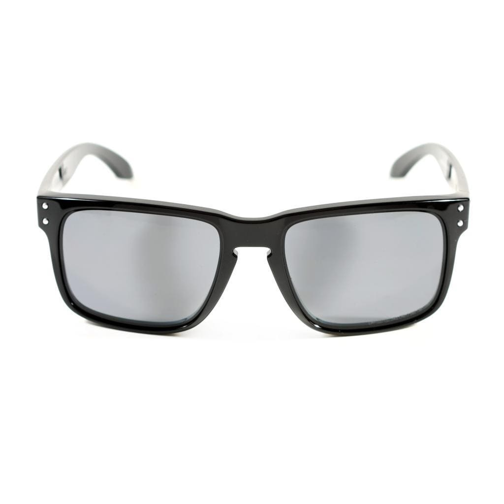 96c39beb28 Shop Oakley Holbrook Polished Black with Grey Polarized Lenses - Free  Shipping Today - Overstock - 9103007