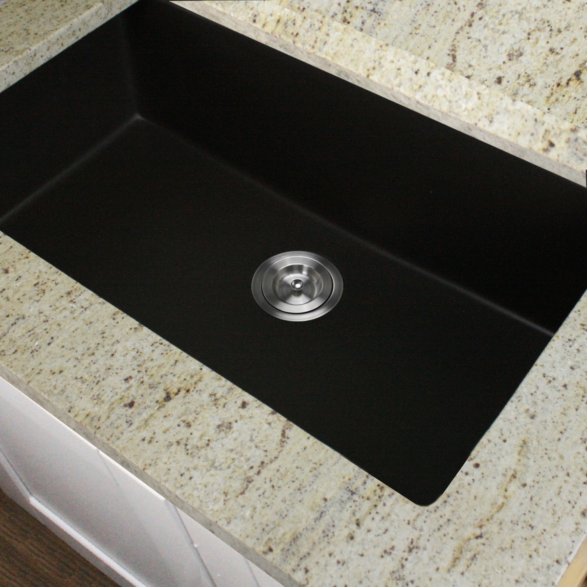 Granite Composite Undermount Kitchen Sinks Highpoint collection granite composite 33 inch single bowl black highpoint collection granite composite 33 inch single bowl black undermount kitchen sink free shipping today overstock 16290208 workwithnaturefo