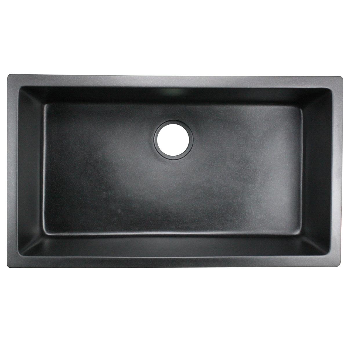 black undermount kitchen sinks. Highpoint Collection Granite Composite 33 Inch Single Bowl Black Undermount  Kitchen Sink Free Shipping Today Overstock 16290208