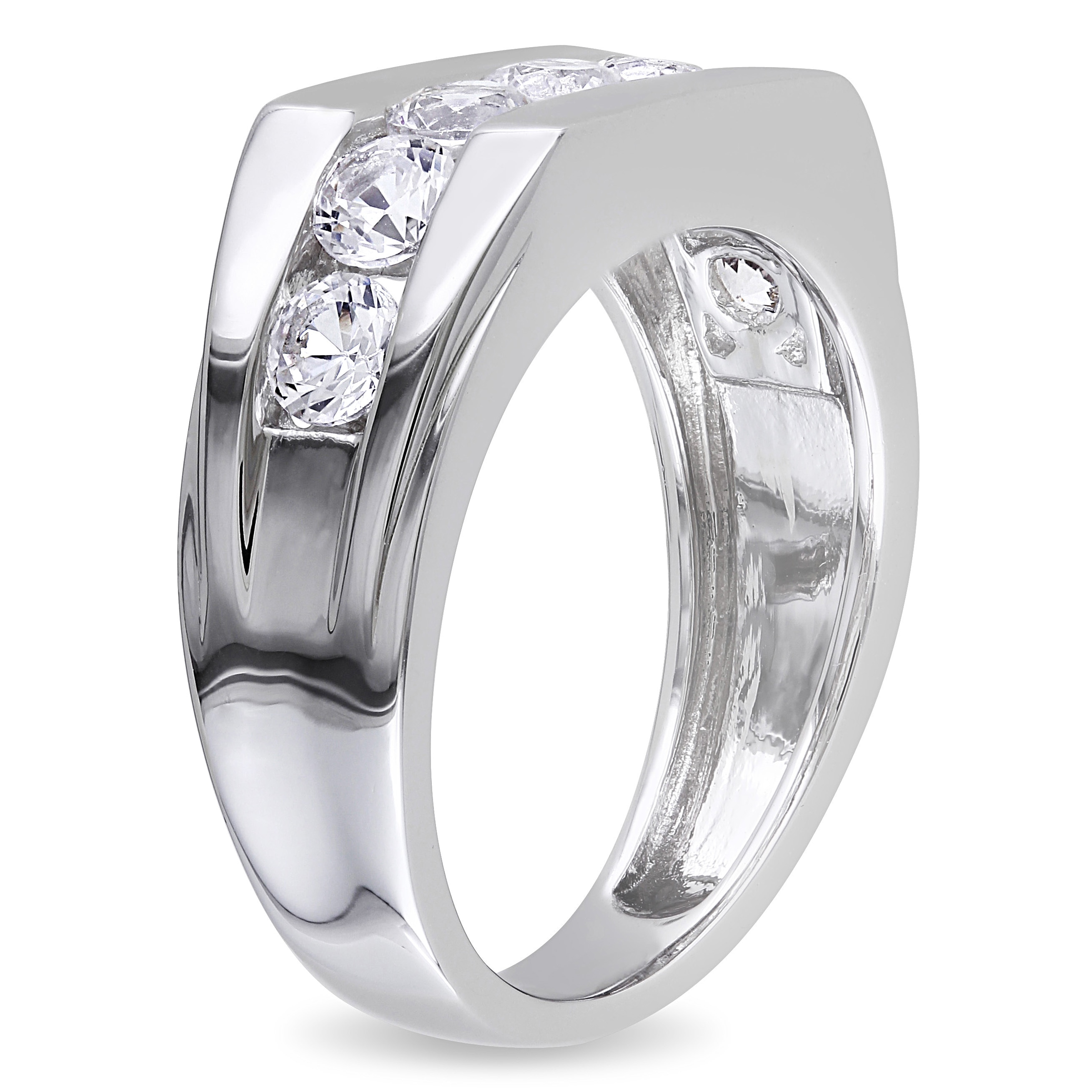 round diamond set band platinum eternity pl bands milgrain with channel anniversary of sku image