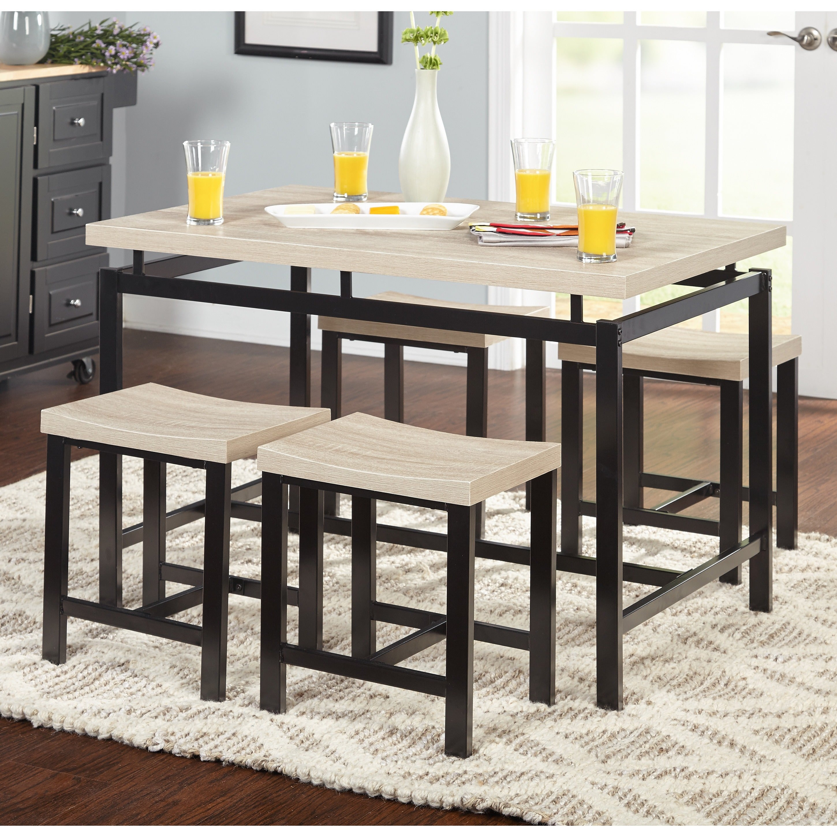 Shop Simple Living Delano Two Tone 5 Piece Dining Set On Sale