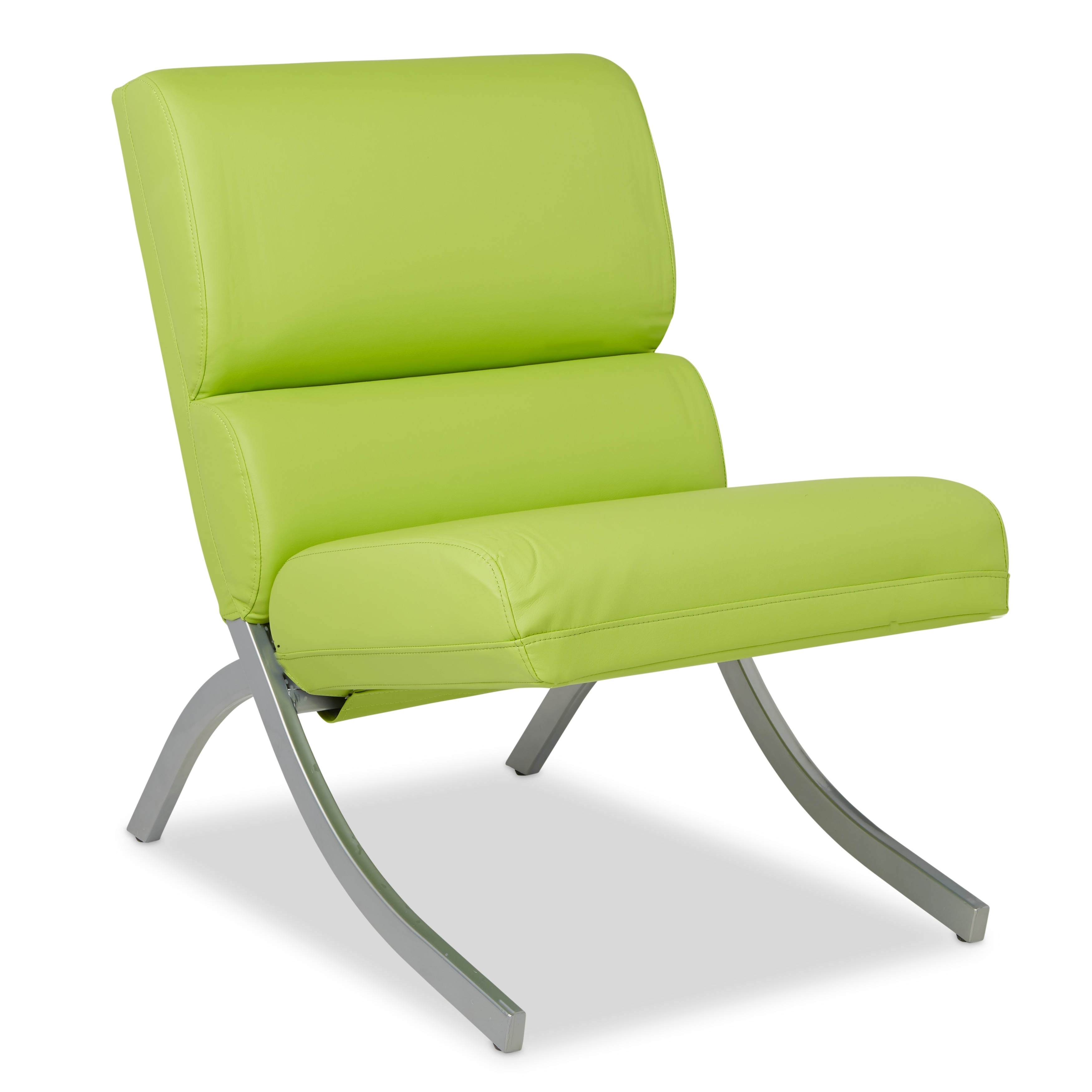 Merveilleux Shop Clay Alder Home Rialto Lime Green Bonded Leather Chair   Free Shipping  Today   Overstock.com   9104404