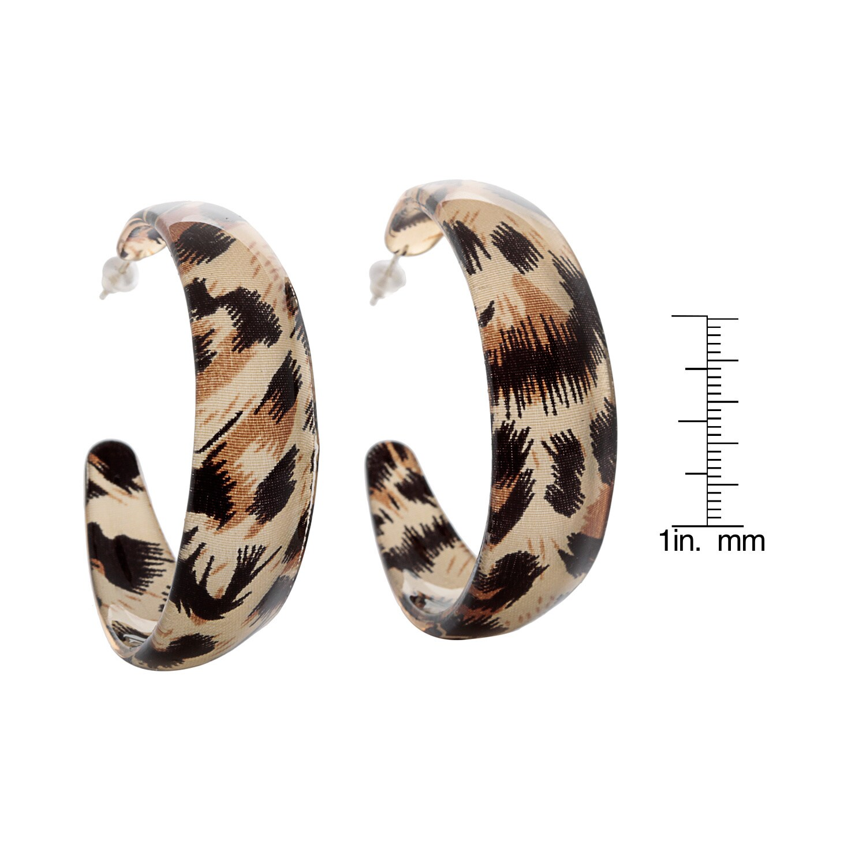 Alexa Starr Animal Print Leopard Lucite Hoop Earrings Free Shipping On Orders Over 45 9104469