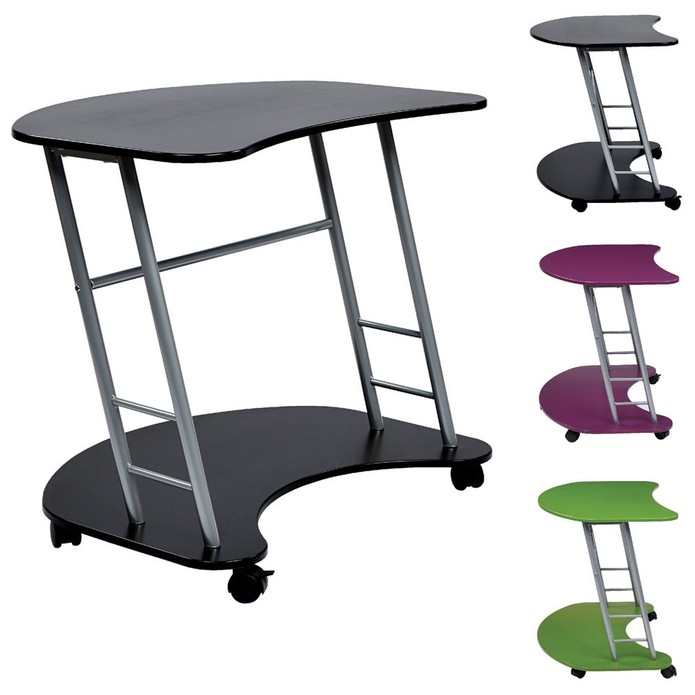 deluxe kitchen cart amazon laptop ca rolling with techni dp chocolate home storage mobili desk