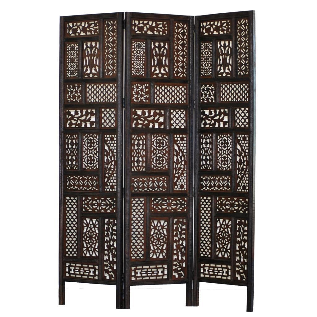 Shop Hemmingway 3 panel Wood Screen Free Shipping Today