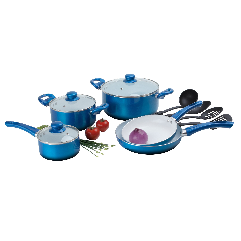 Shop Ceramic 12-piece Non-stick Cookware Set - On Sale - Free ...