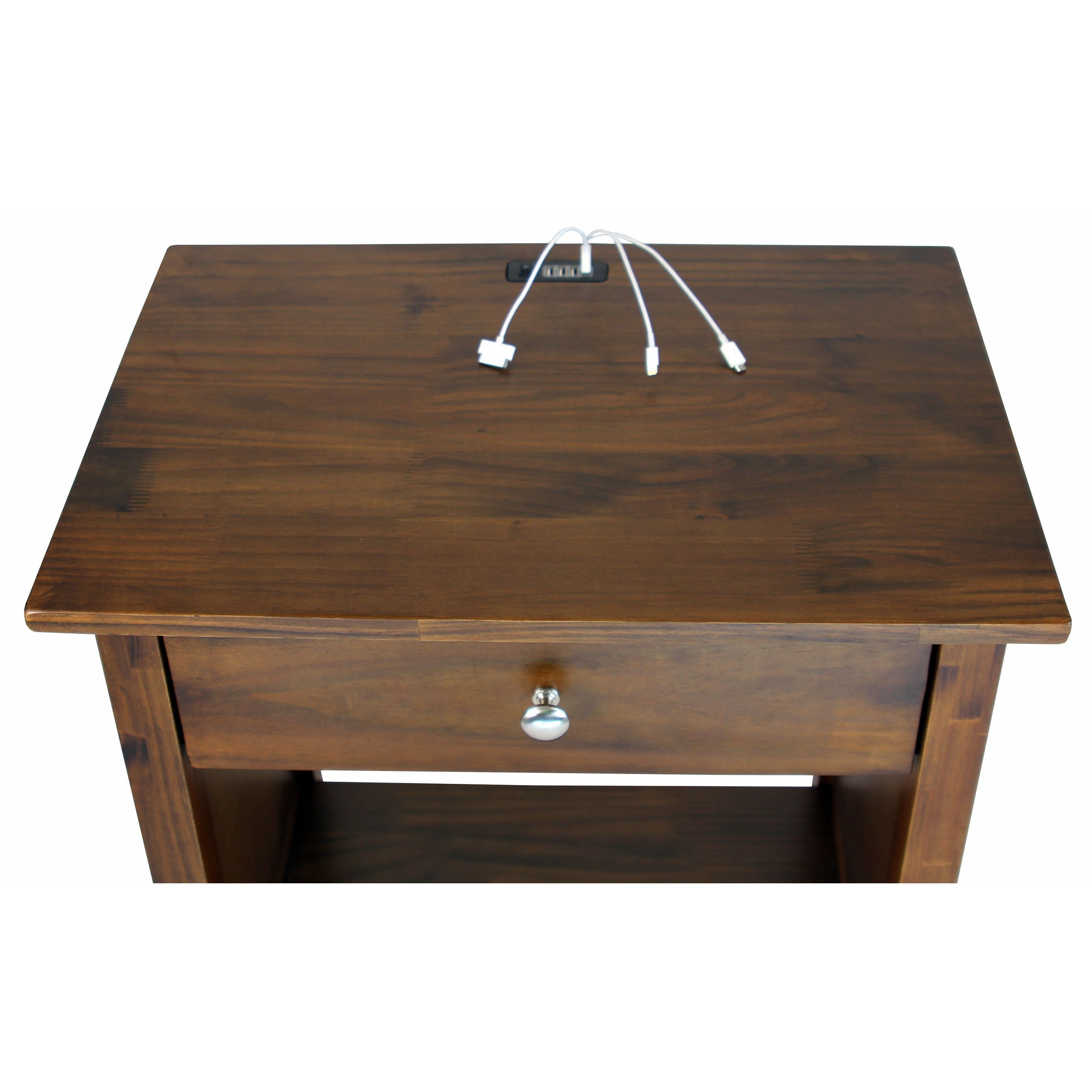 Shop vanderbilt nightstand end table with 4 usb ports free shipping today overstock com 9106467