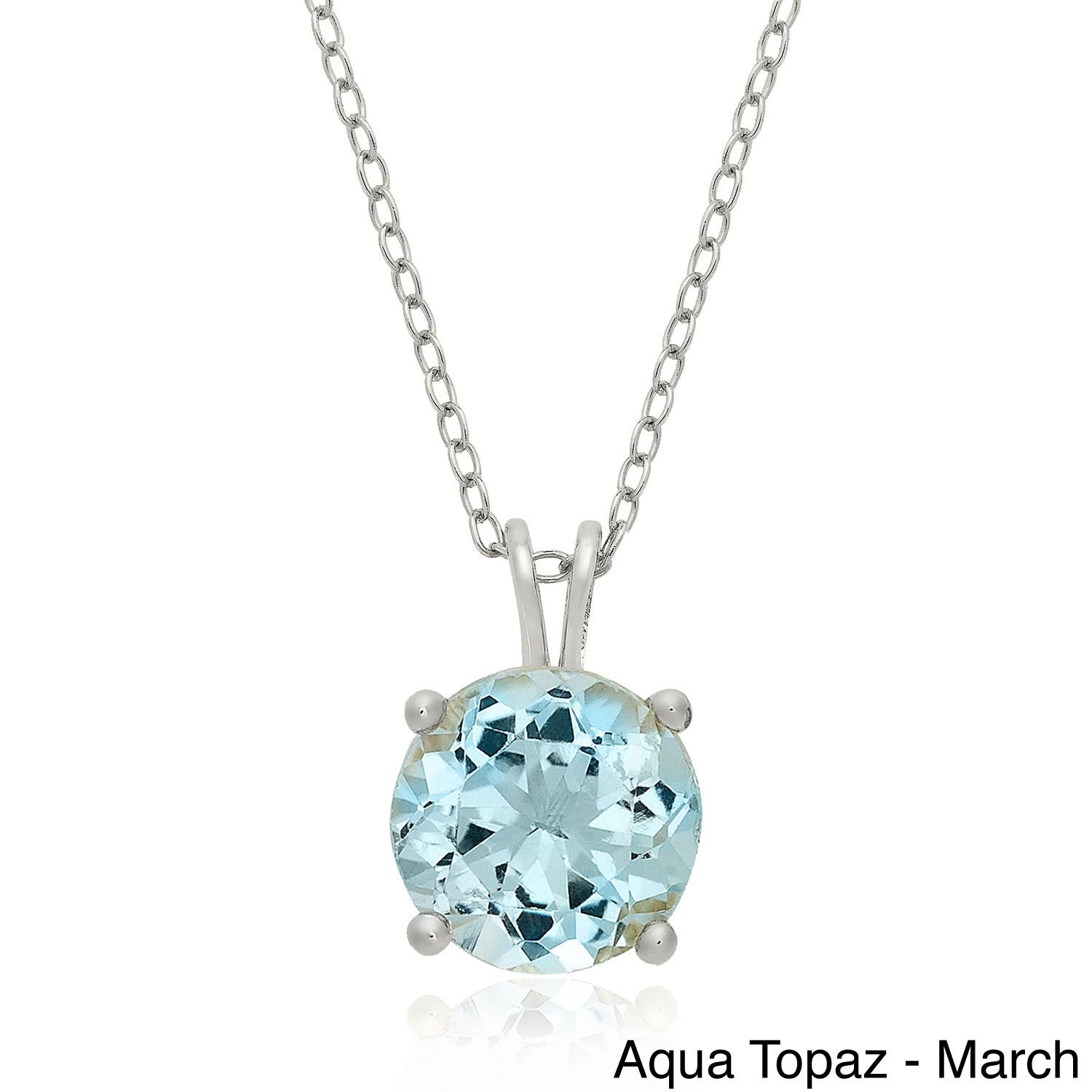 march rose wexford birthstone signature aquamarine slider silver necklace