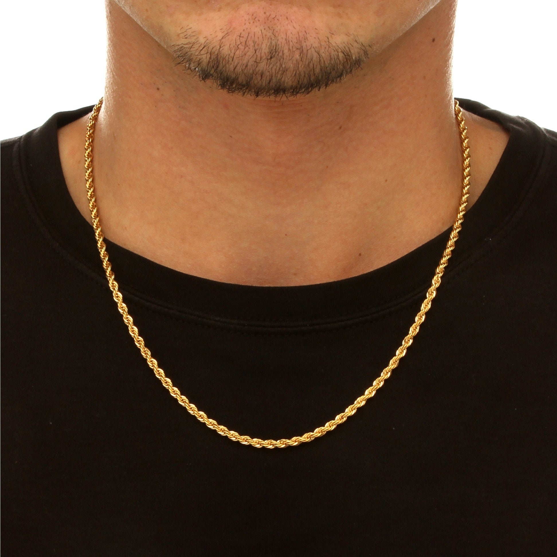 jewelry inch konov black stainless com chains steel mens chain inches dp amazon necklace