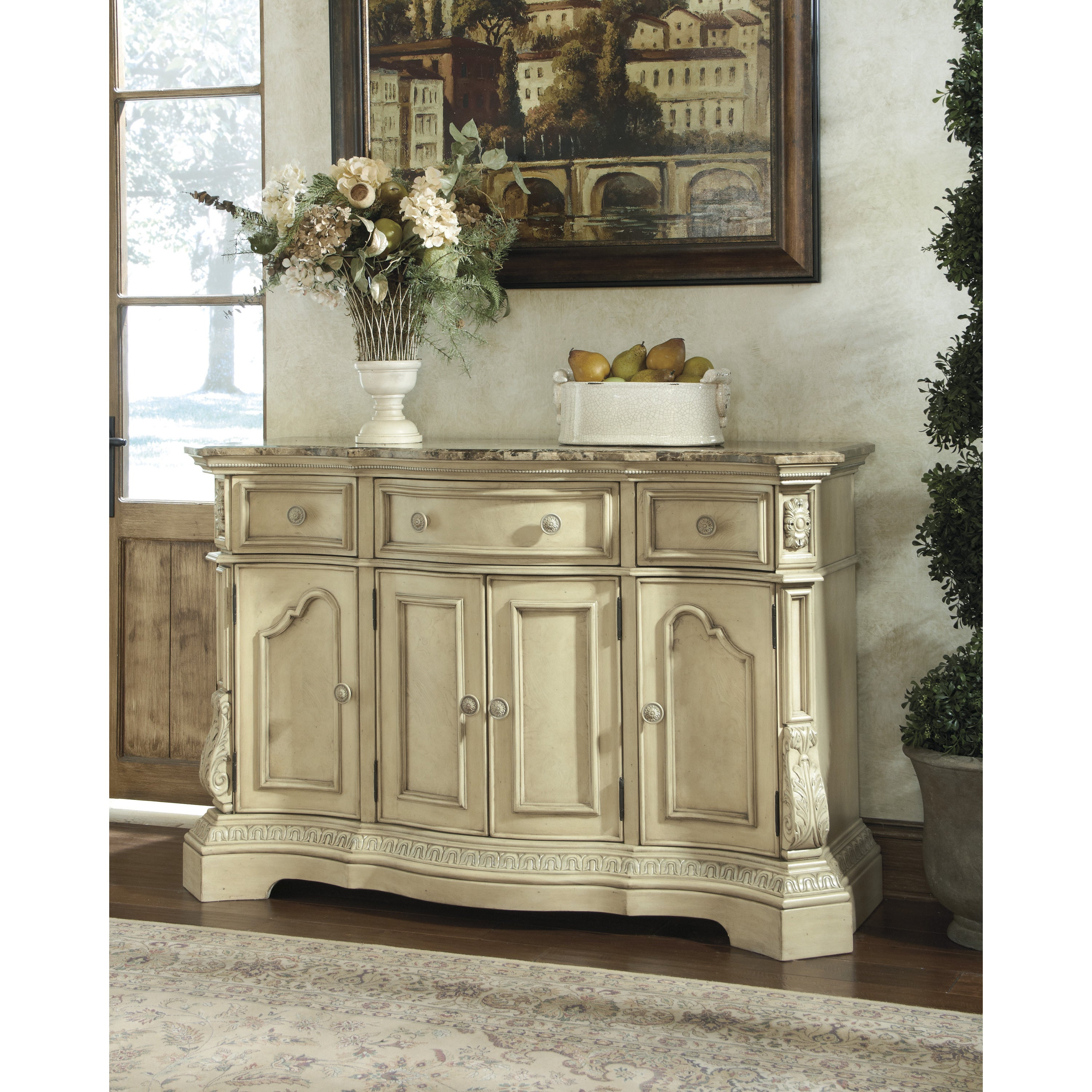 Merveilleux Shop Signature Desgin By Ashley Ortanique White Dining Room Server   Free  Shipping Today   Overstock.com   9115489