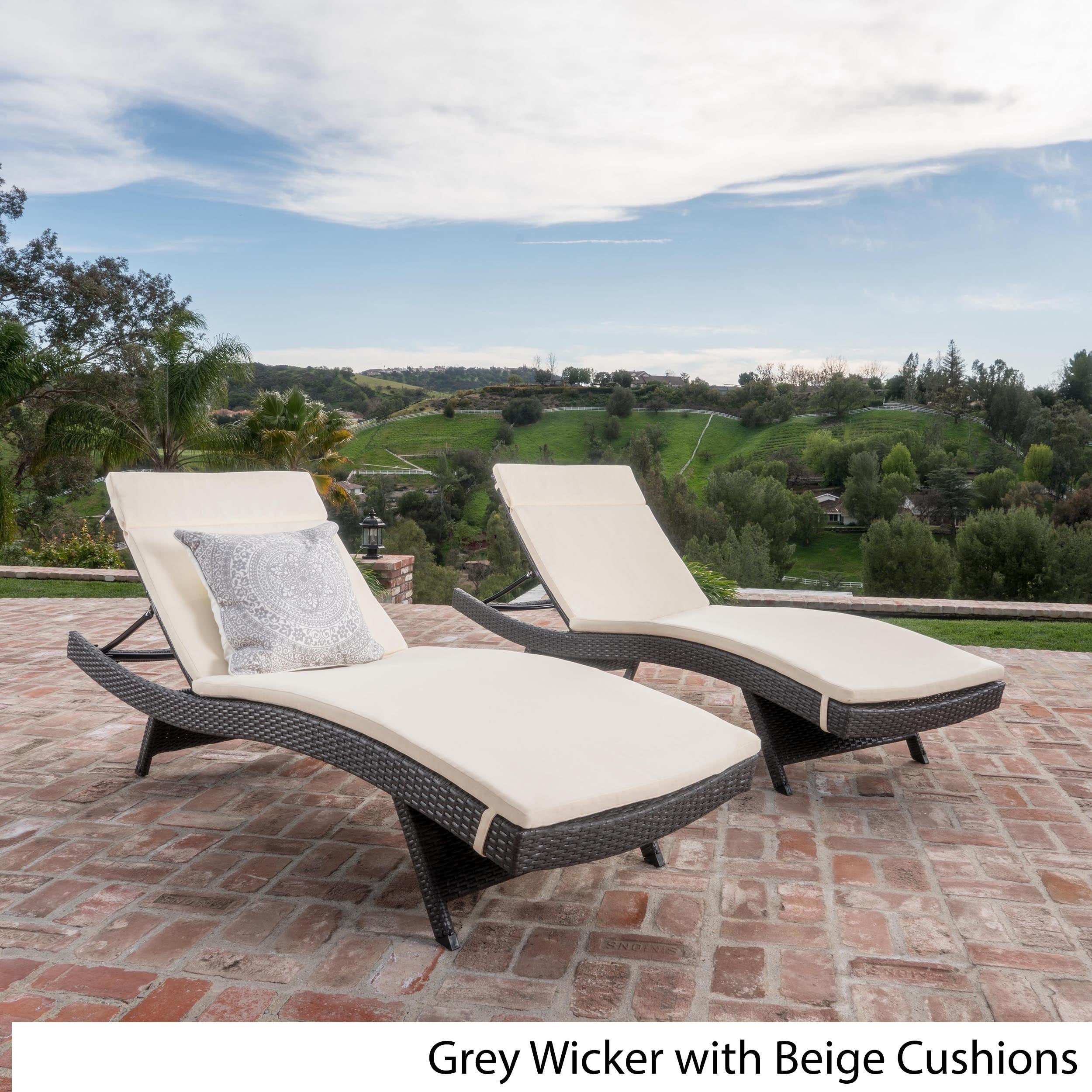 Marvelous Good Toscana Outdoor Cushioned Wicker Chaise Lounge By Christopher With Lounge  Liege Outdoor Design Inspirations