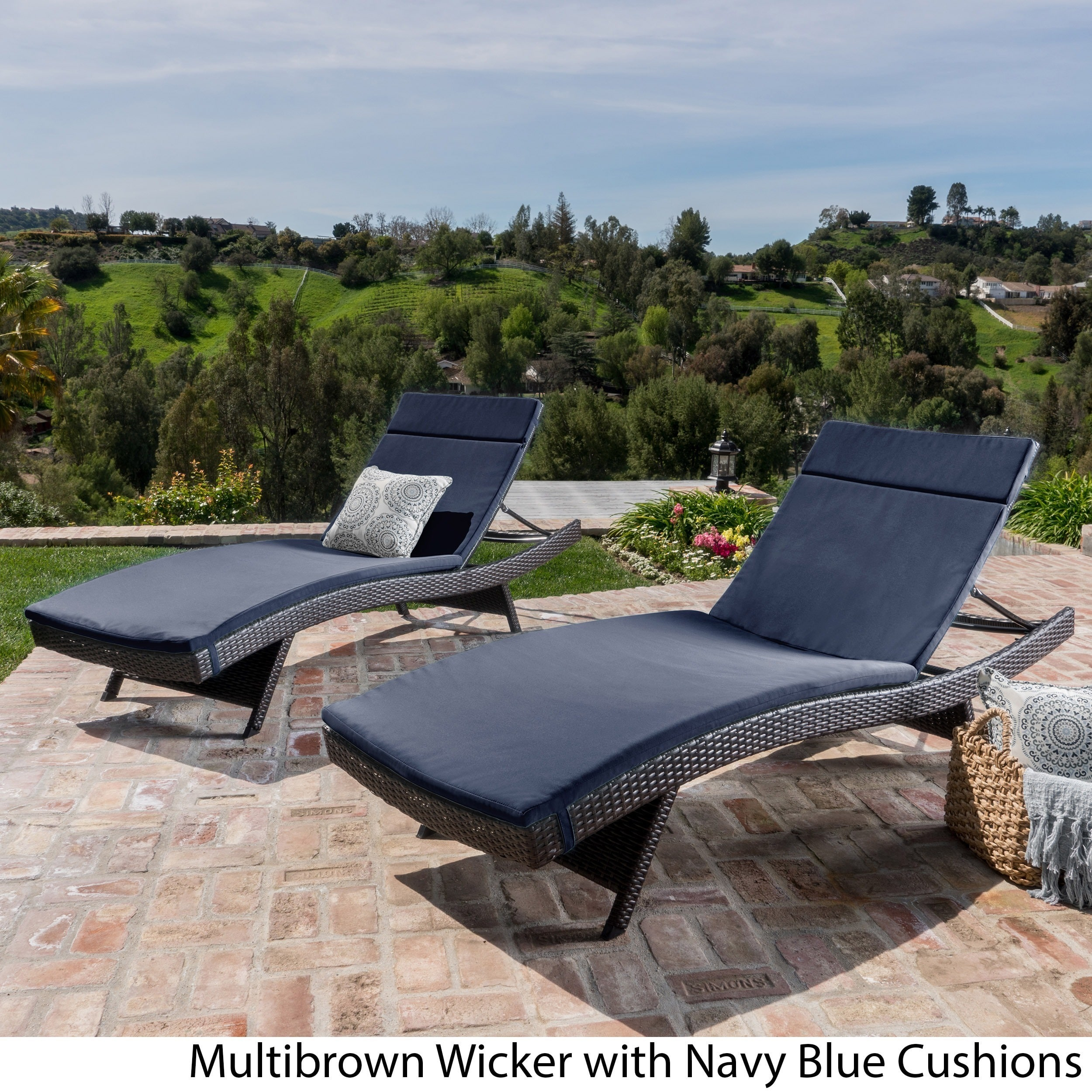 n the bay chairs chaise furniture padded outdoors sling lounges outside b depot hampton outdoor patio lounge belleville home