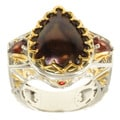 Michael Valitutti Two-tone Brown Mabe Pearl, Garnet and Pink Sapphire Ring