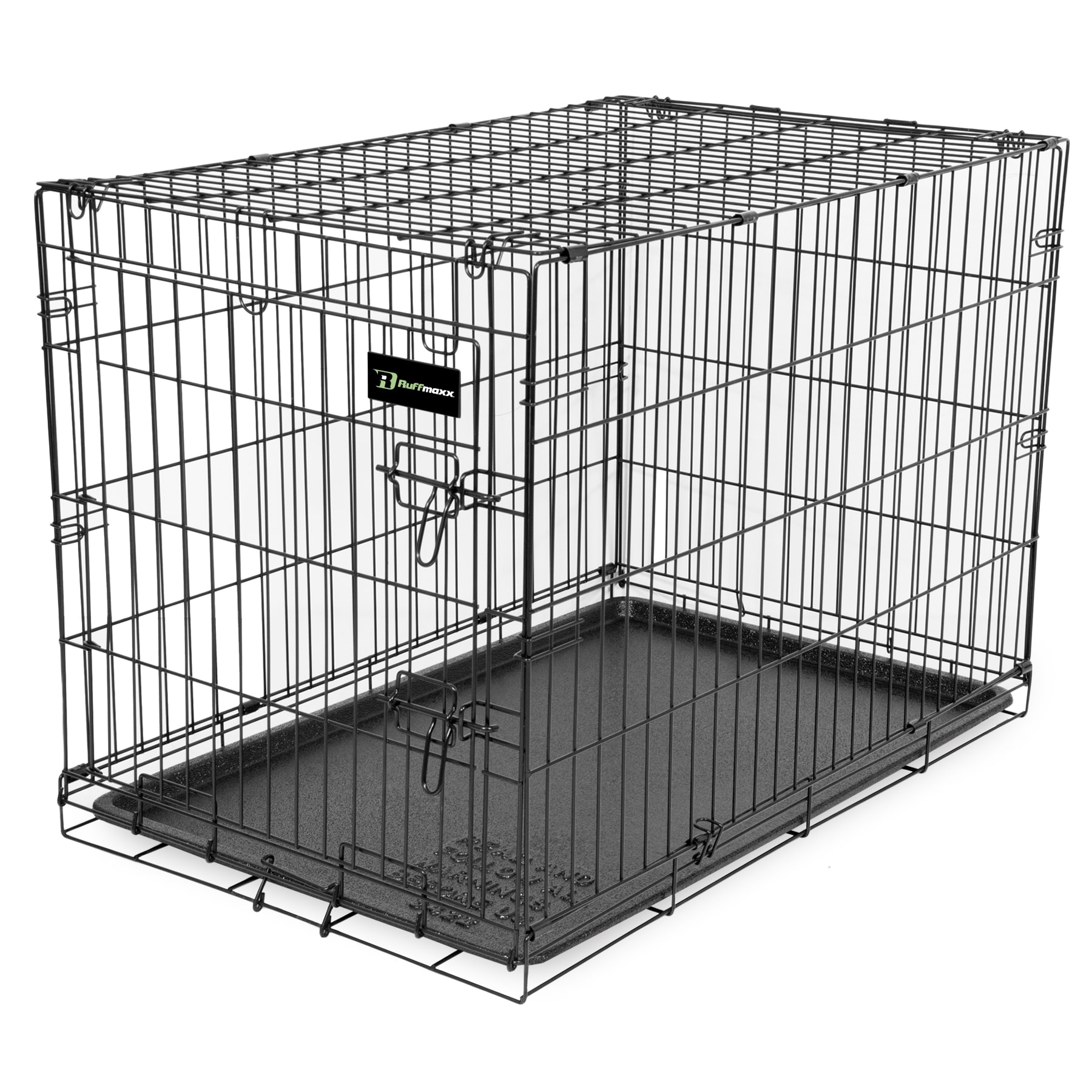 Shop Ruff Maxx Black Wire Pet Crate - Free Shipping Today ...
