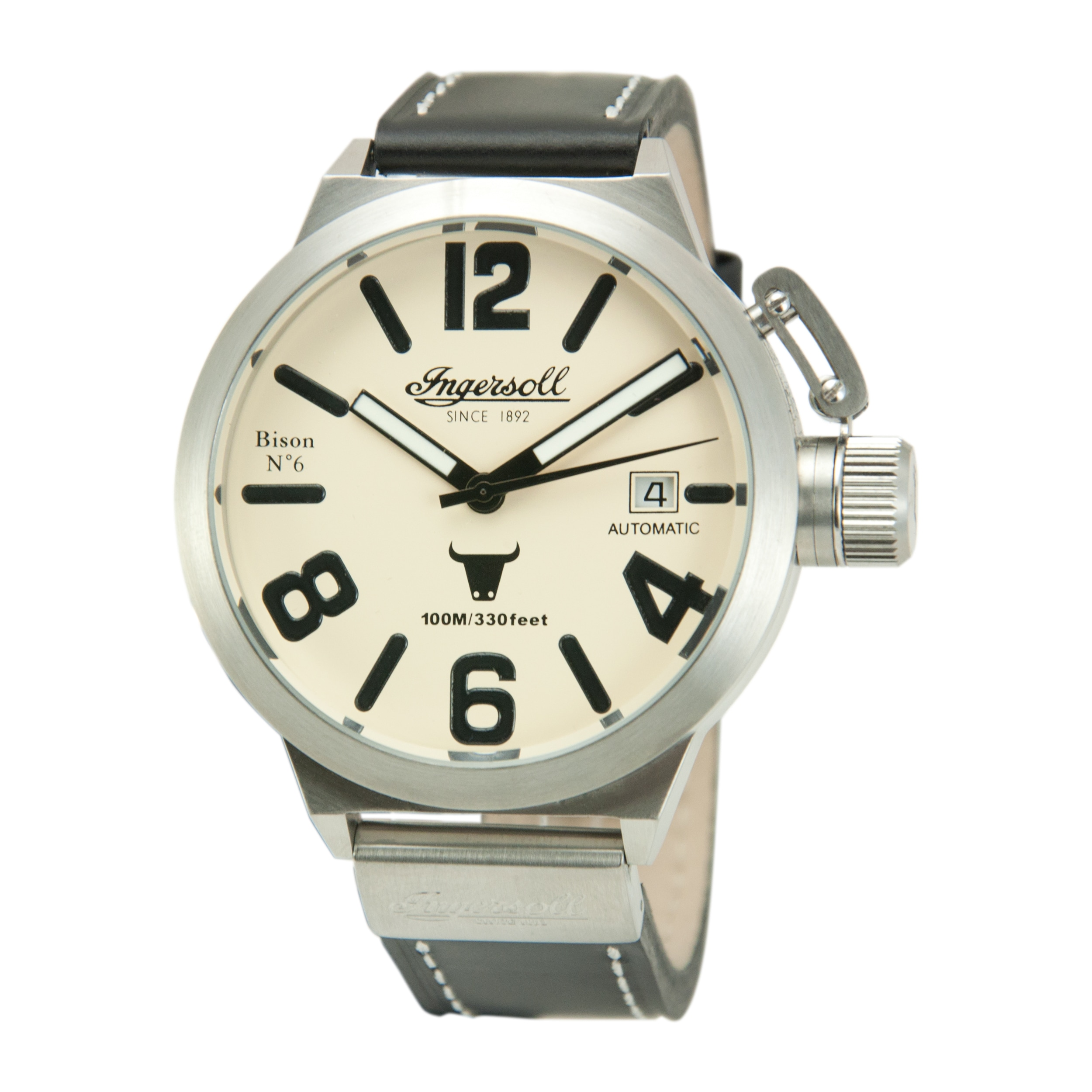 Shop Ingersoll Men's 'Bison No. 6' Black Leather Watch - Free Shipping  Today - Overstock.com - 9117729
