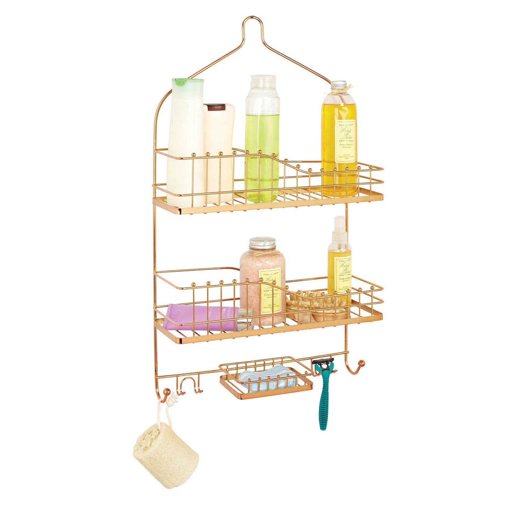 Shop Wide Balljoint Rose Gold Shower Caddy - Free Shipping On Orders ...