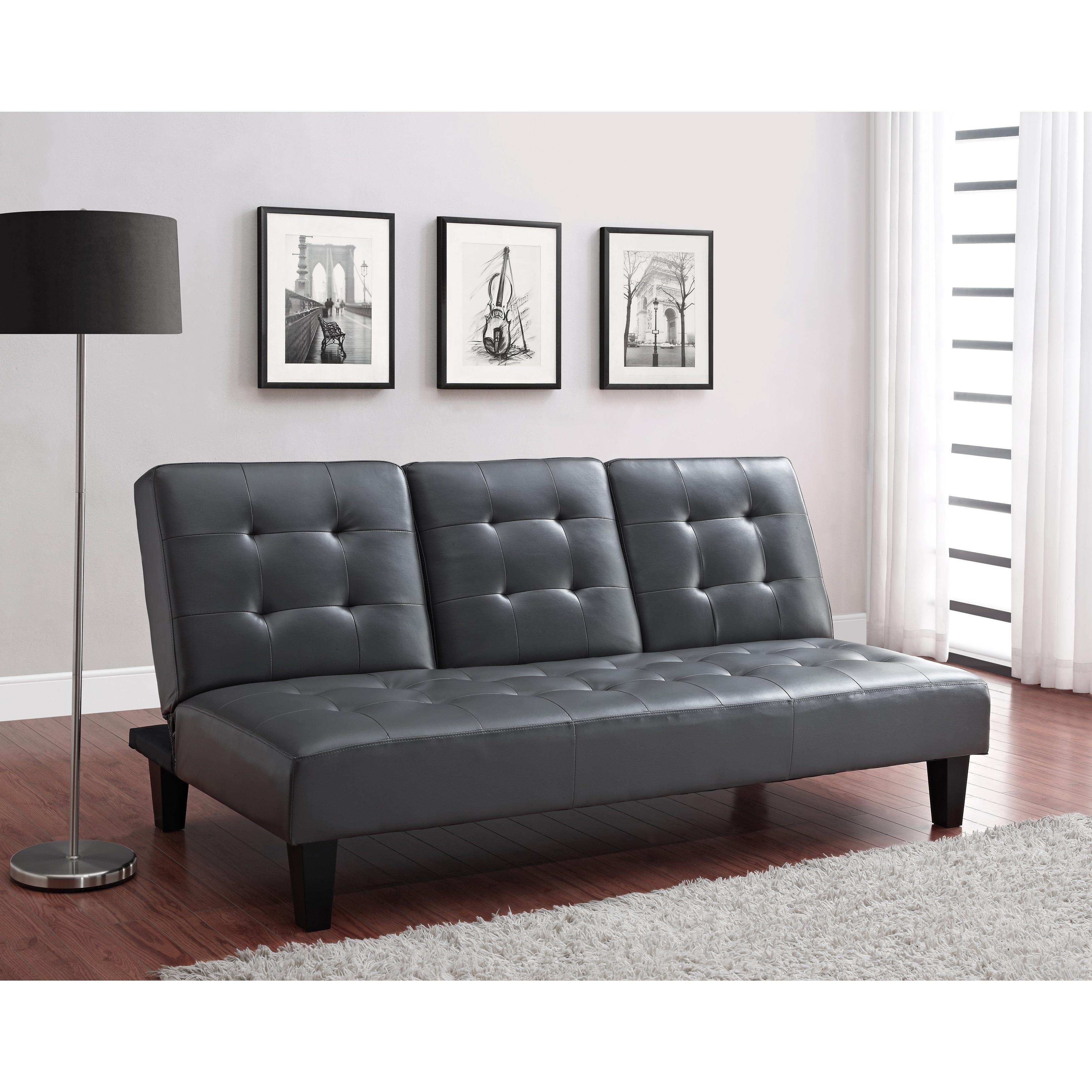 Avenue Greene Julia Cup Holder Convertible Futon Sofa Bed Free