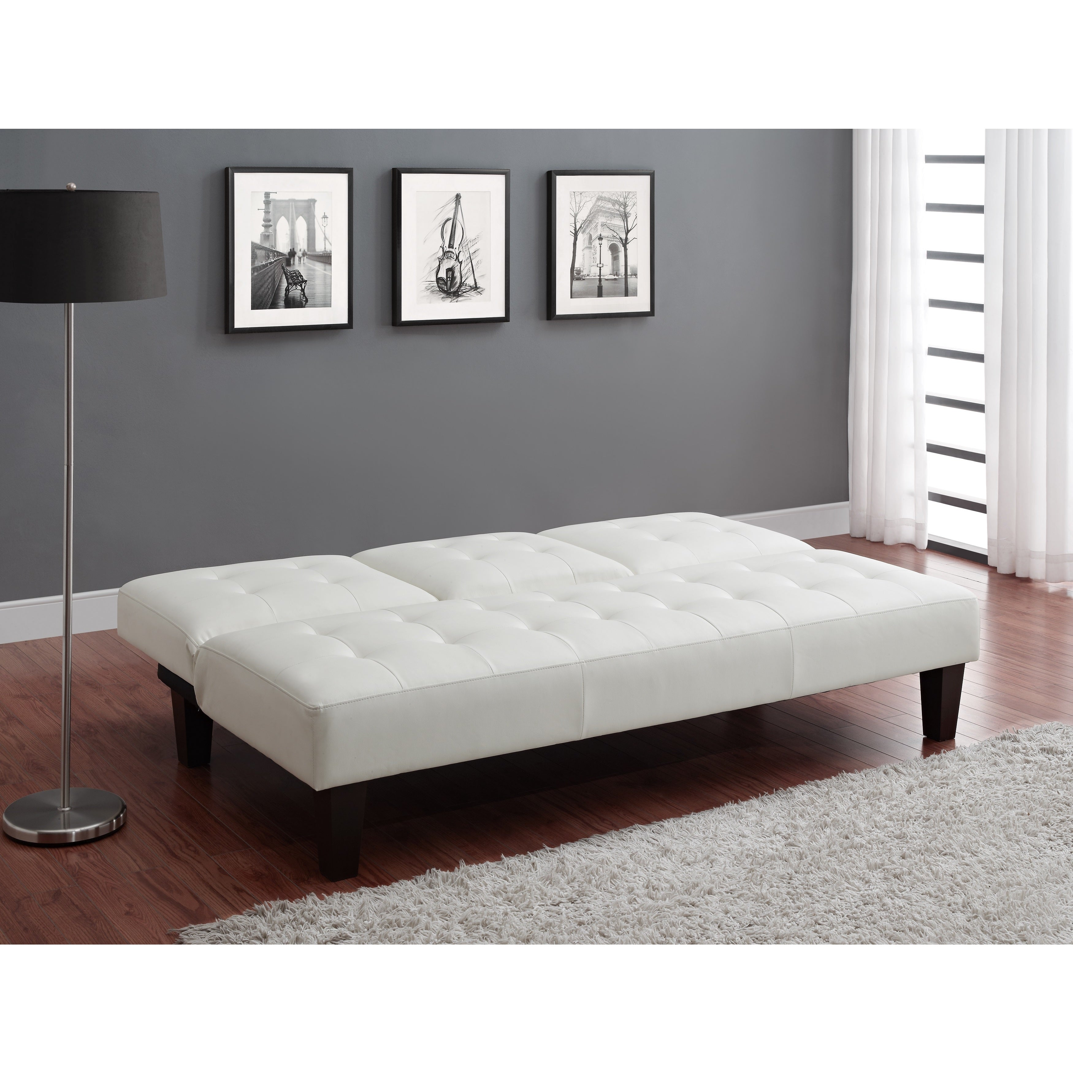 Avenue Greene Julia Cup Holder Convertible Futon Sofa Bed Free