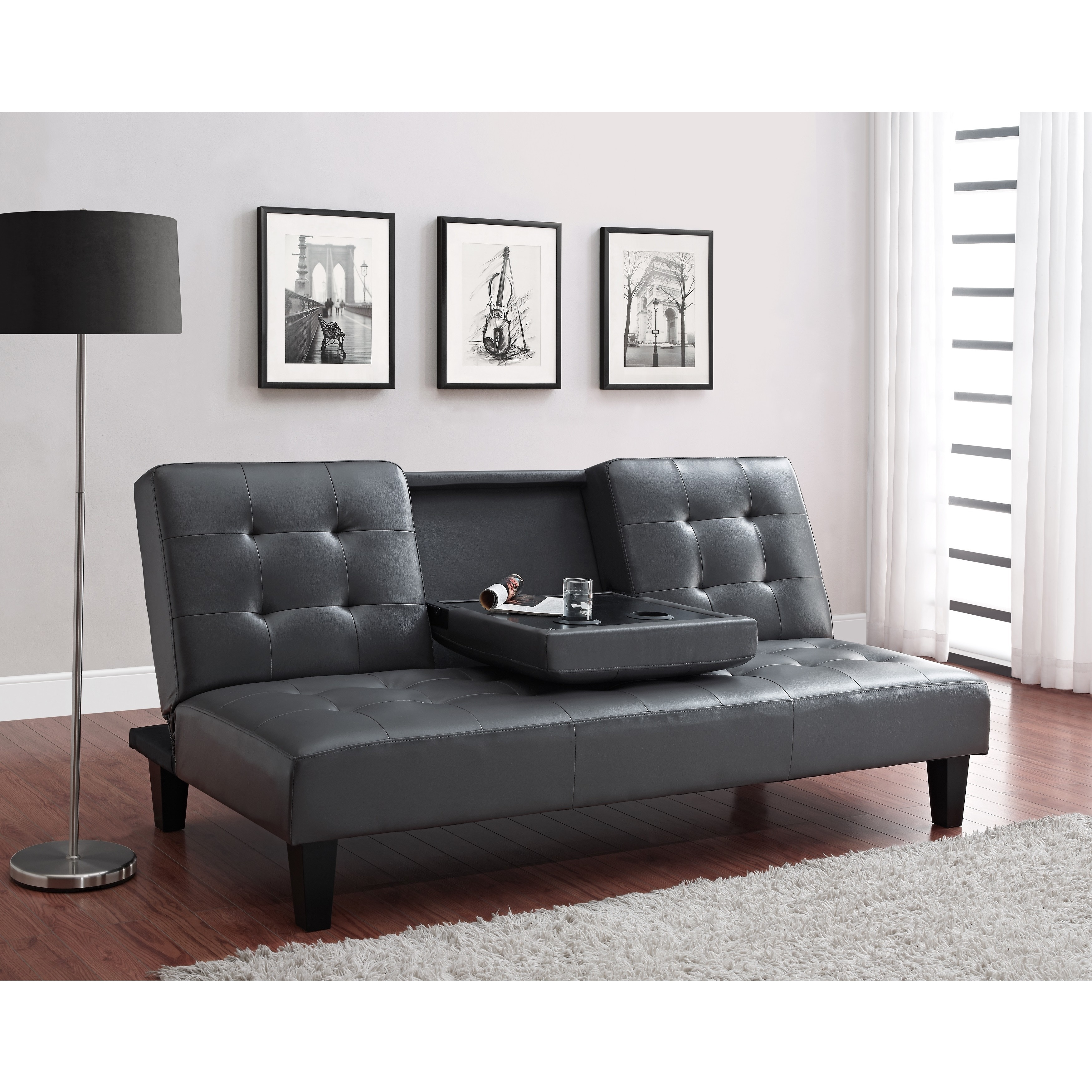 Avenue Greene Julia Cup Holder Convertible Futon Sofa Bed Free Shipping Today 9119823
