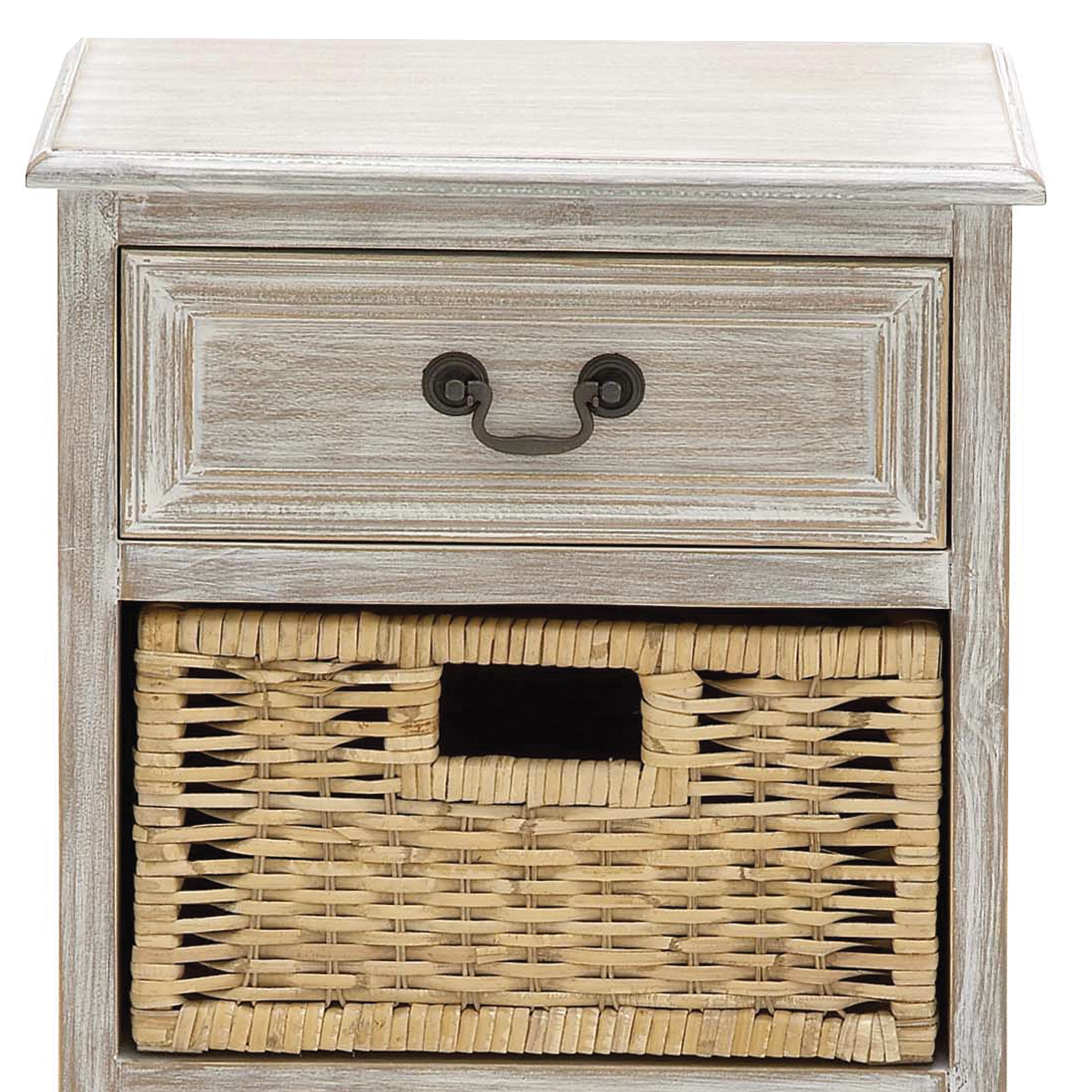 Mullholland Handcrafted Distressed 3 Drawer Storage Nightstand  Free Shipping Today