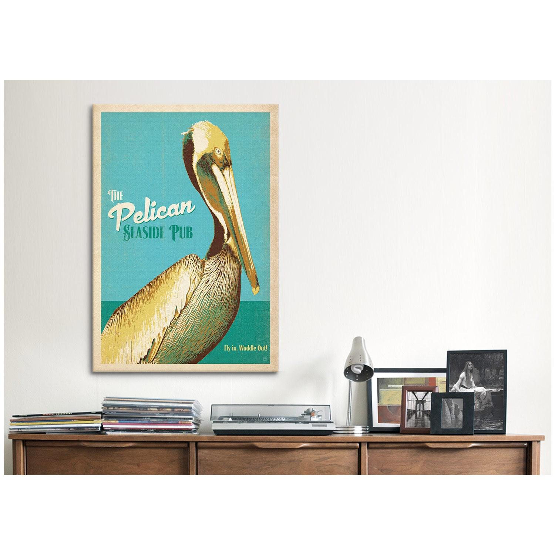 iCanvas ART Anderson Design Group The Pelican Seaside Pub Canvas