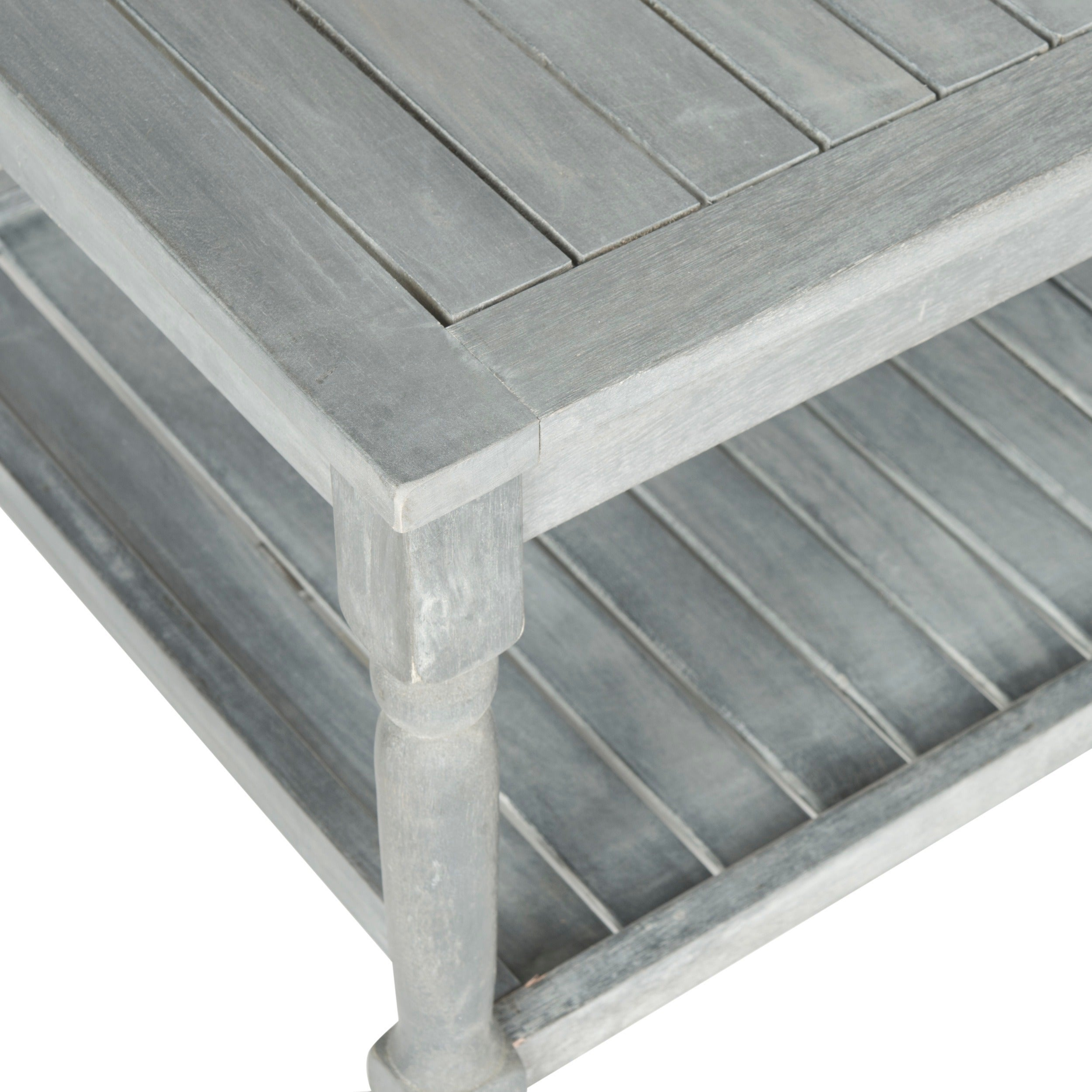 Shop Safavieh Outdoor Living Oakley Ash Grey Acacia Wood Coffee Table    Free Shipping Today   Overstock.com   9126368