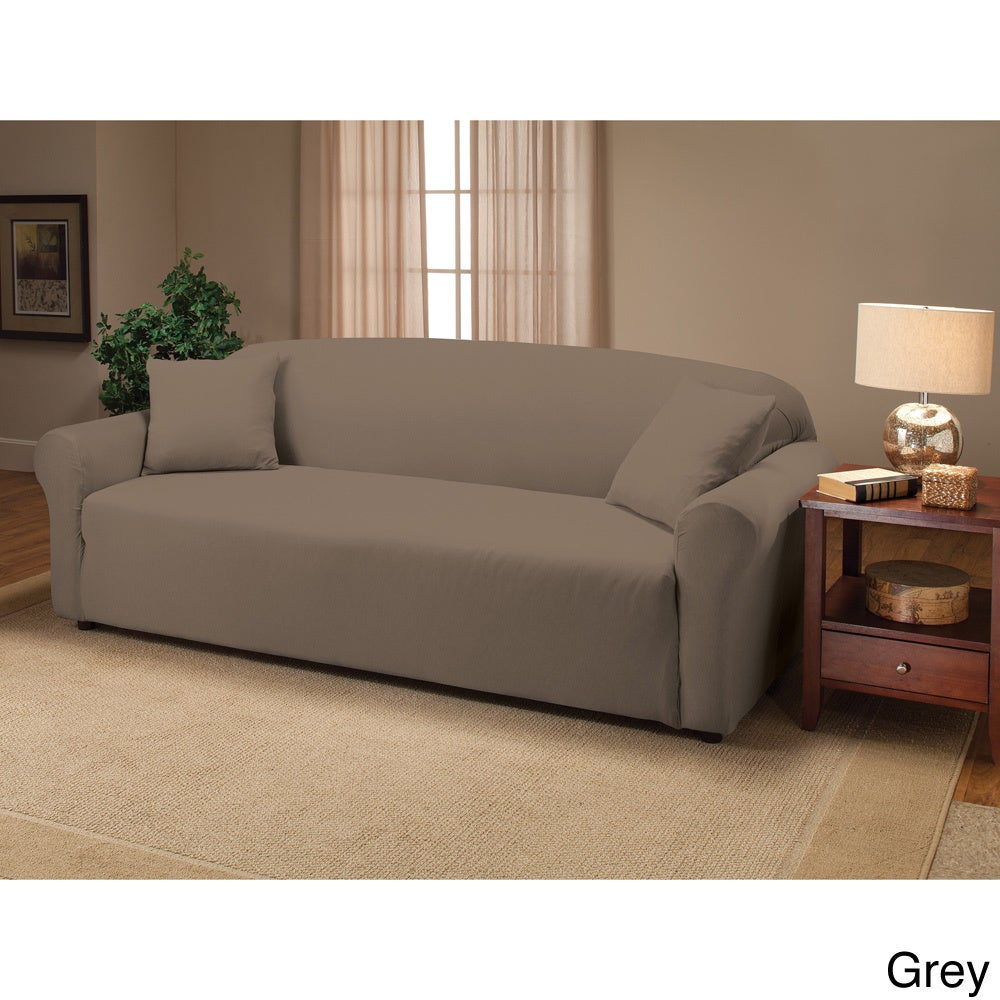 com sofa stretch velvet at slipcover pique cream lowes shop pd