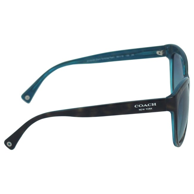 8234143d9dc4 ... norway shop coach womens samantha hc8055 5116 4s dark tortoise teal  sunglasses free shipping today overstock