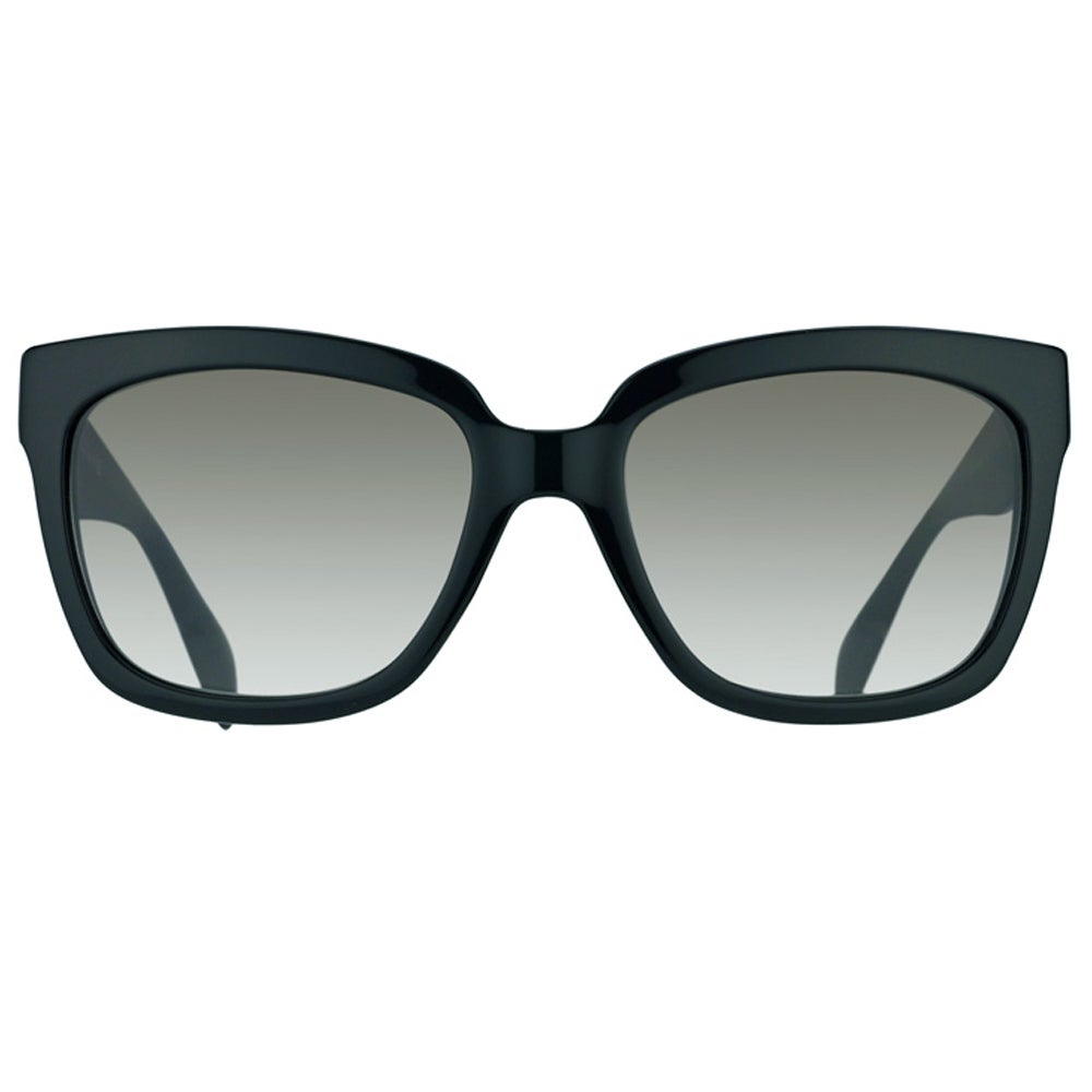e893c588a858a Shop Prada Womens  PR 07PS 1AB0A7  Black Plastic Fashion Sunglasses - Free  Shipping Today - Overstock - 9135897