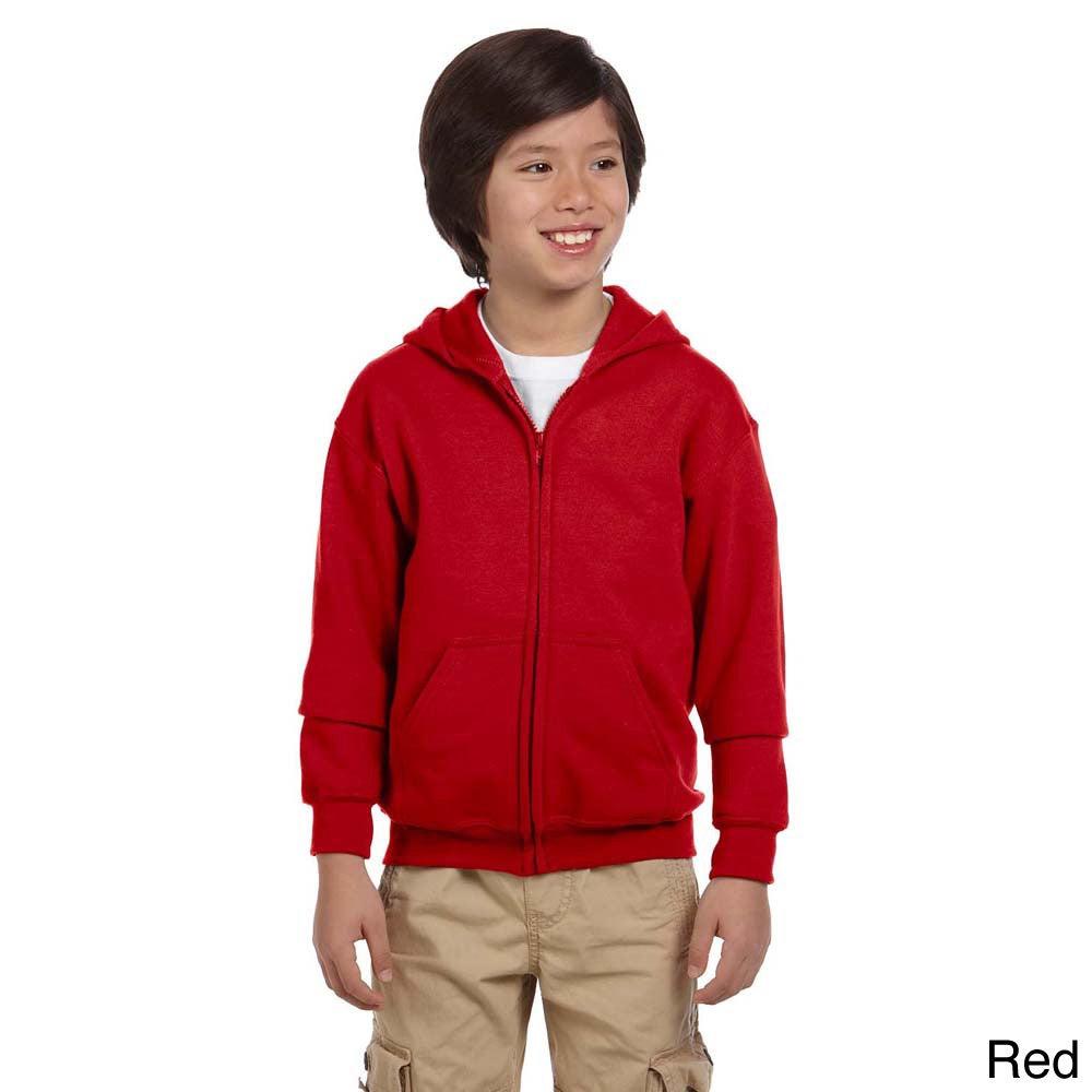 e163529c Shop Gildan Youth Heavy Blend 50/50 Full-zip Hooded Sweatshirt - On Sale -  Free Shipping On Orders Over $45 - Overstock - 9143892