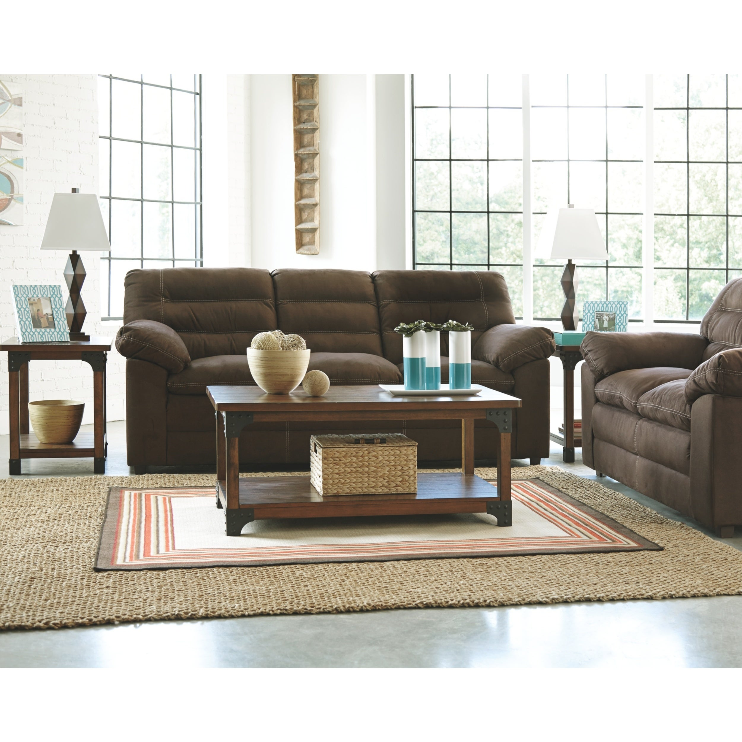 Murphy Coffee Table.Murphy Medium Brown Occasional Tables Set Of 3