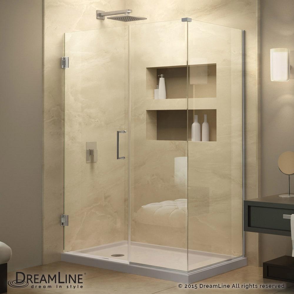 Shop DreamLine Unidoor Plus 50.5 in. W x 30.375-34.375 in. D x 72 in ...