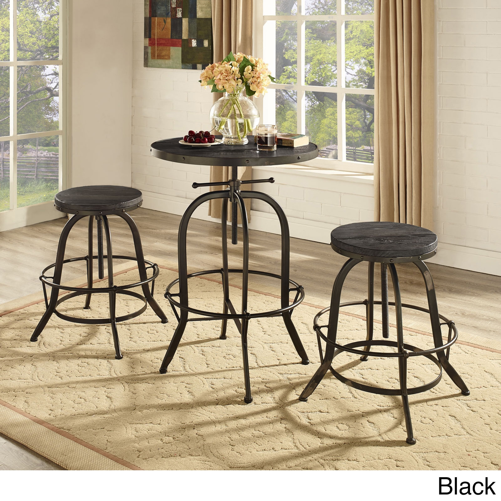 Shop Sylvan Industrial Style Wood Bar Table   Free Shipping Today    Overstock.com   9144785