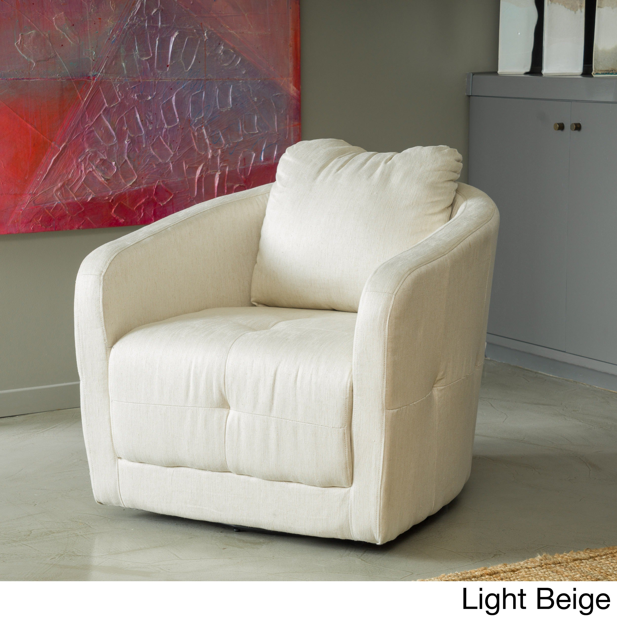 Shop Christopher Knight Home Concordia Microfiber Fabric Swivel Chair    Free Shipping Today   Overstock.com   9144808