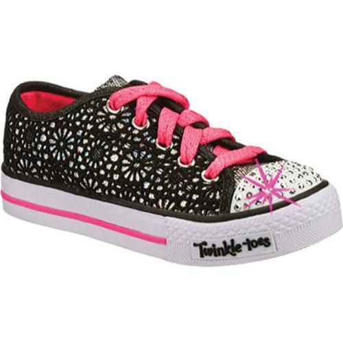 476e0efbe5f5 Shop Girls  Skechers Twinkle Toes Shuffles Glitter Dayz Black Hot Pink -  Free Shipping Today - Overstock - 9145598